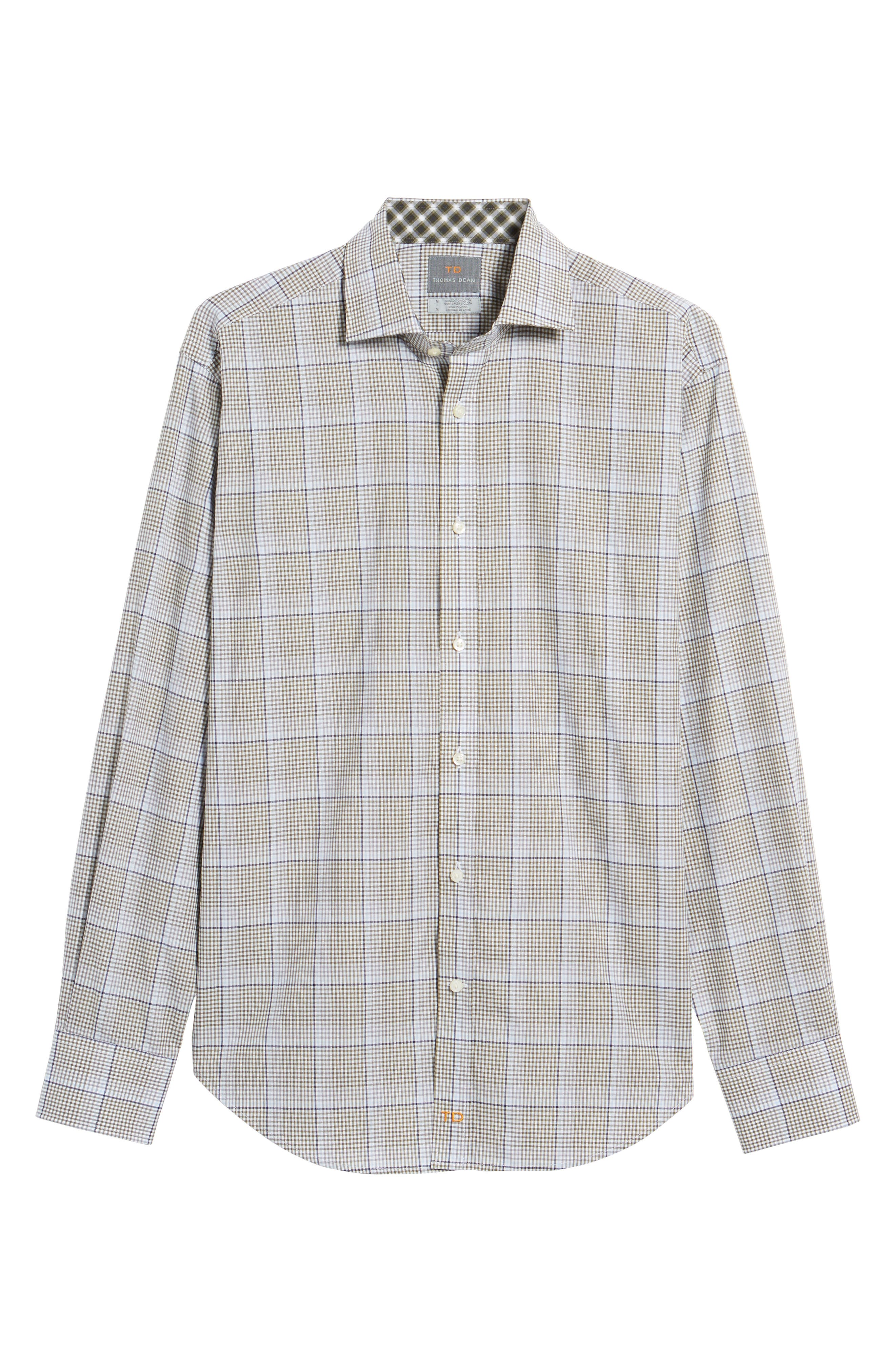 Diamond Regular Fit Dobby Check Sport Shirt,                             Alternate thumbnail 6, color,                             300