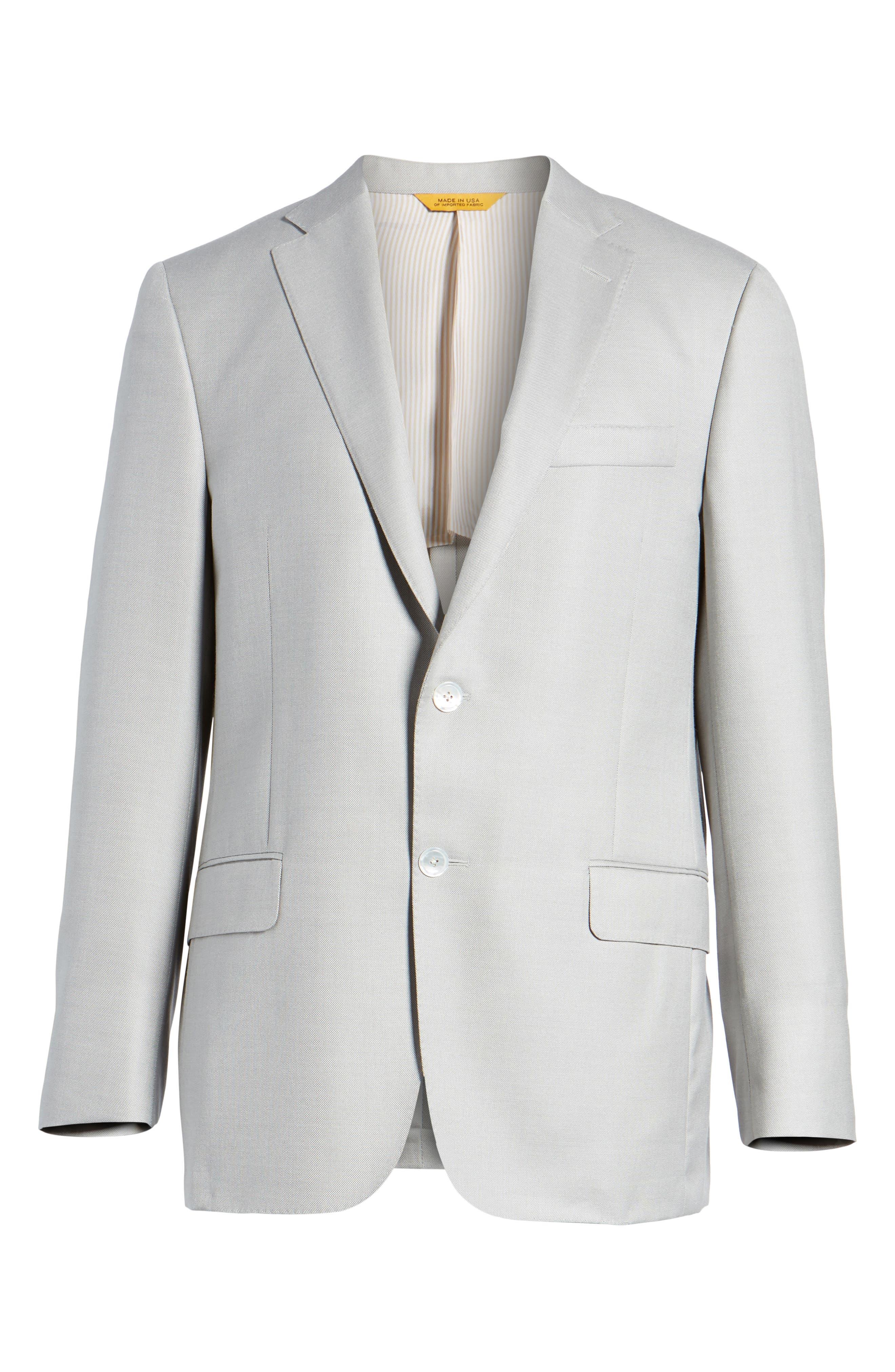 Classic B Fit Wool & Silk Blazer,                             Alternate thumbnail 5, color,