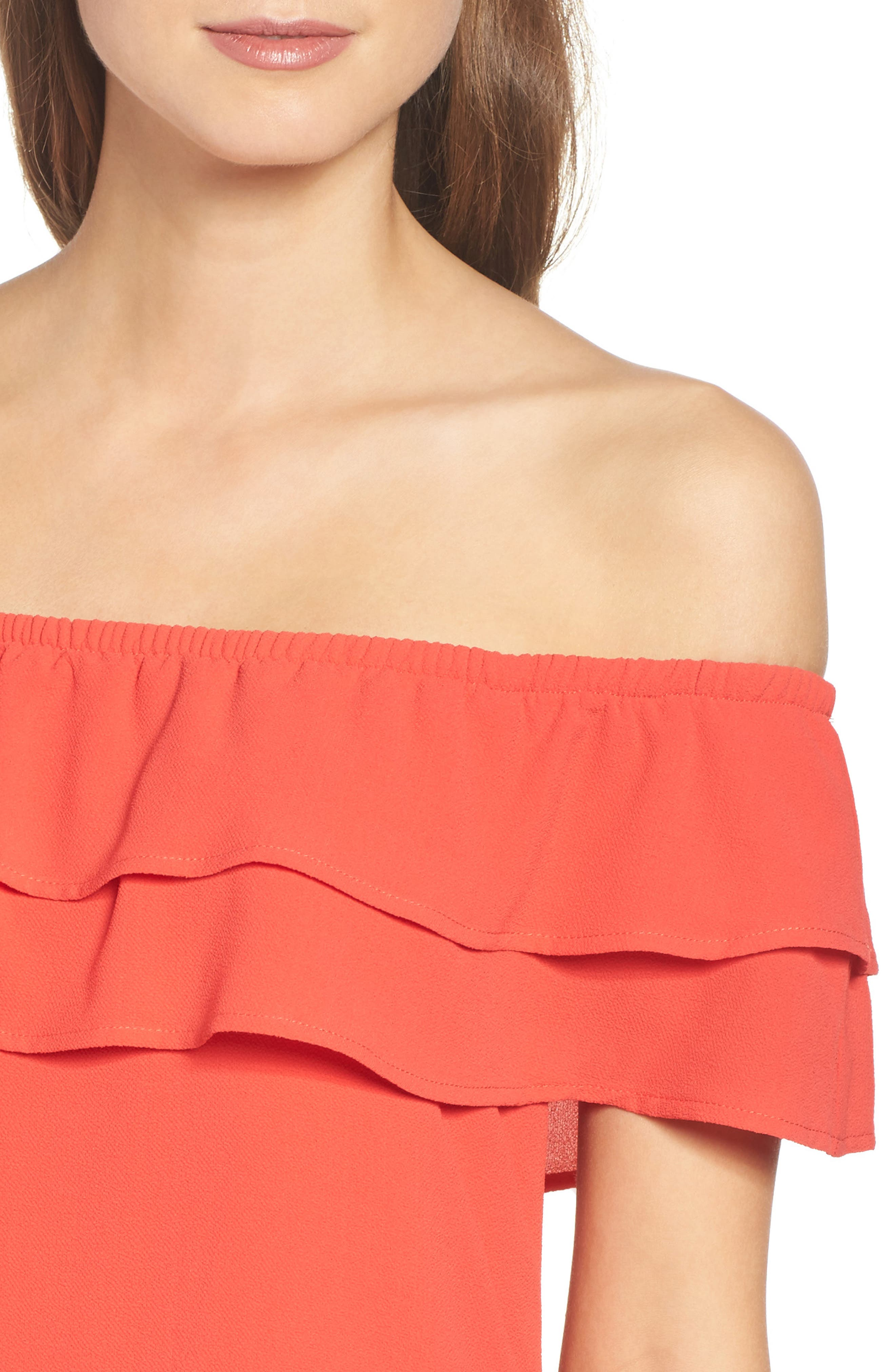 Off the Shoulder Ruffle Dress,                             Alternate thumbnail 32, color,