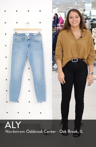 Le Skinny de Jeanne Raw Hem Crop Skinny Jeans, sales video thumbnail