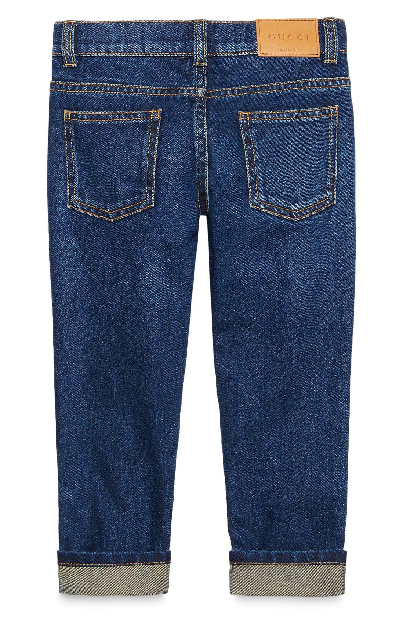 Cuffed Jeans,                             Alternate thumbnail 3, color,                             ORBIT MULTI