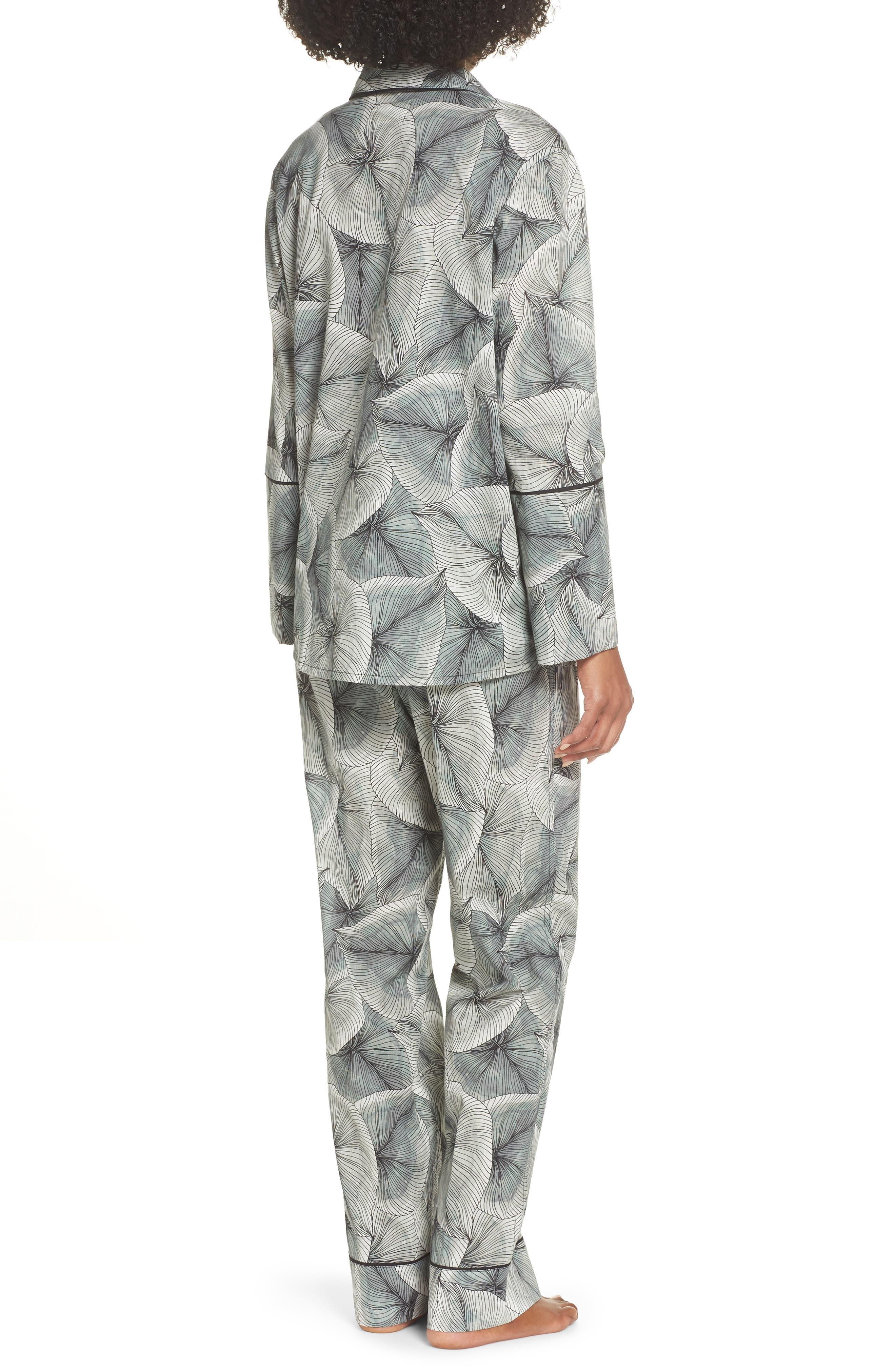 Cotton Voile Pajamas,                             Alternate thumbnail 2, color,                             LEAF PRINT