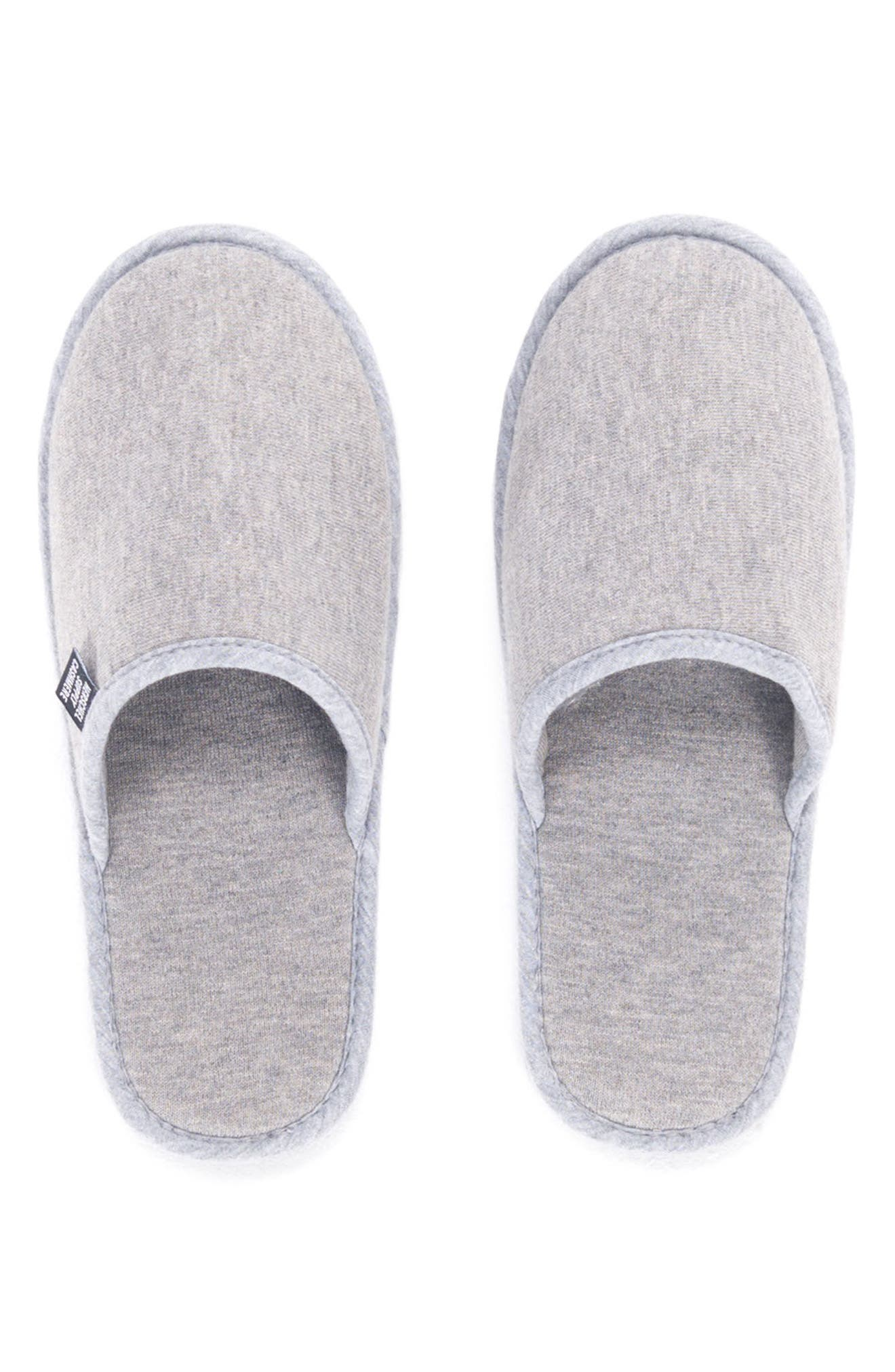 Cashmere Slippers,                             Alternate thumbnail 2, color,                             HEATHERED GREY