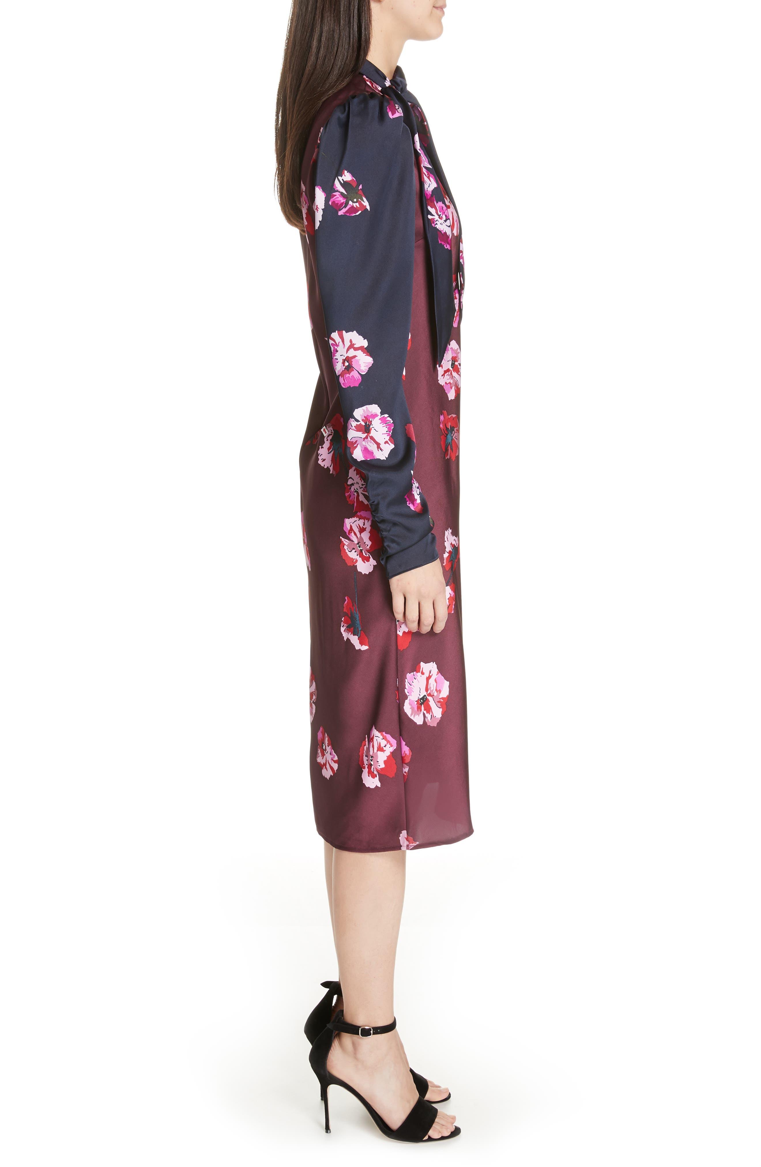Kyan Sheath Dress,                             Alternate thumbnail 3, color,                             MIDNIGHT-BLACKB
