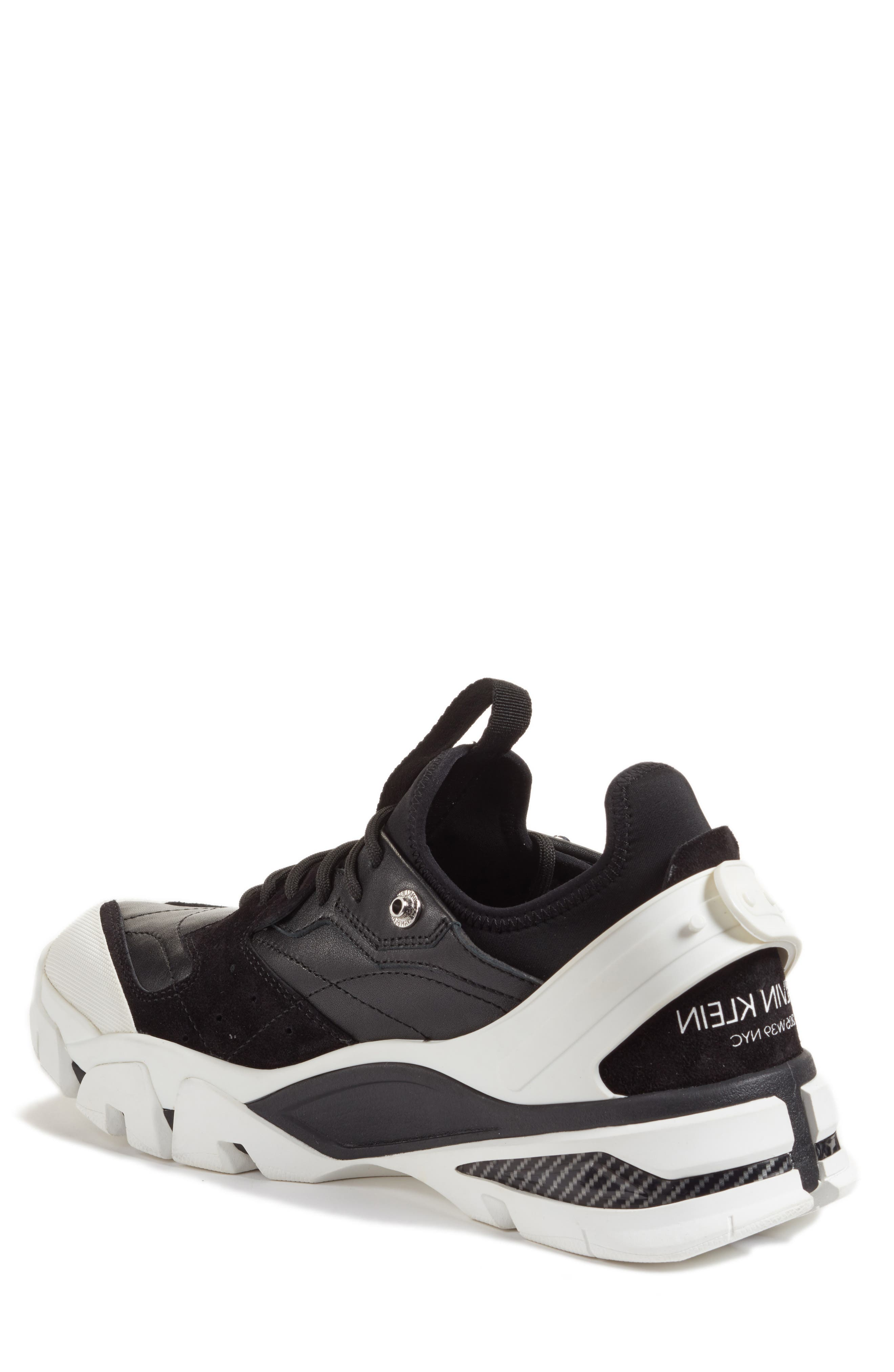 205W39NYC Carla Sneaker,                             Alternate thumbnail 2, color,                             WHITE/ BLACK