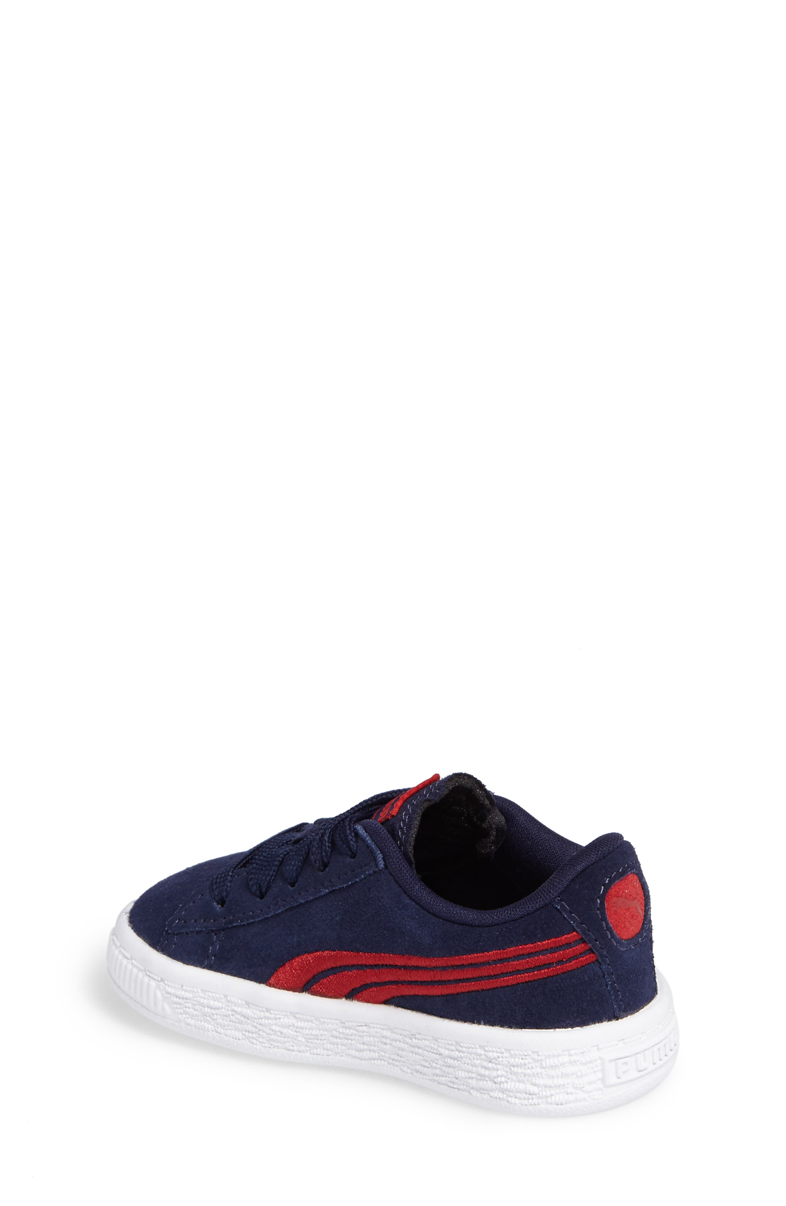 Suede Classic Sneaker,                             Alternate thumbnail 4, color,
