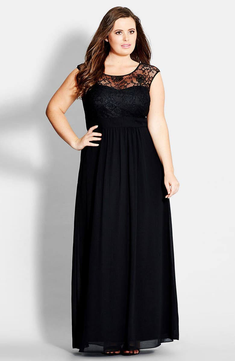 City Chic \'Lace Goddess\' Gown (Plus Size) | Nordstrom
