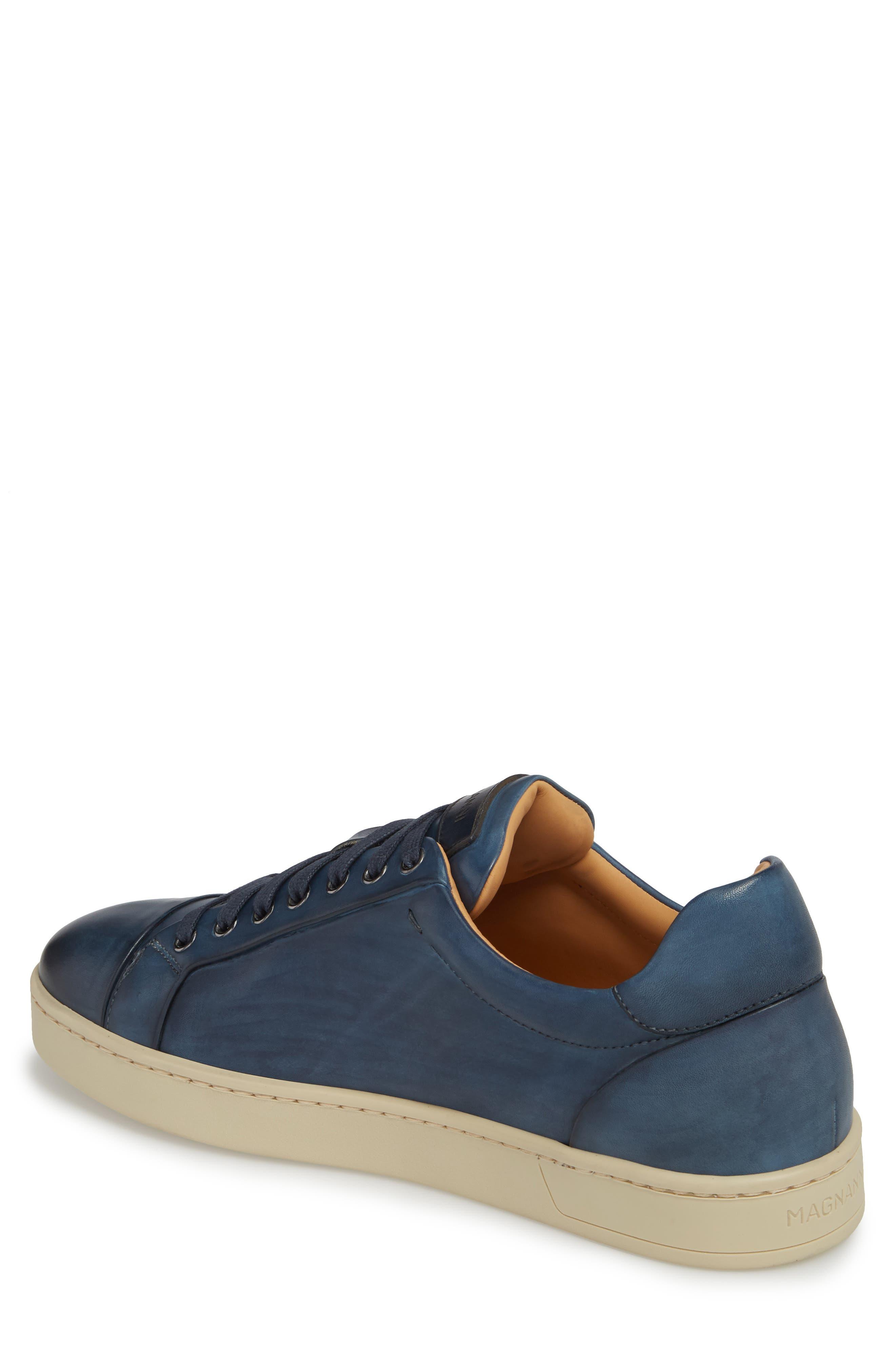 Erardo Low Top Sneaker,                             Alternate thumbnail 2, color,                             BLUE LEATHER