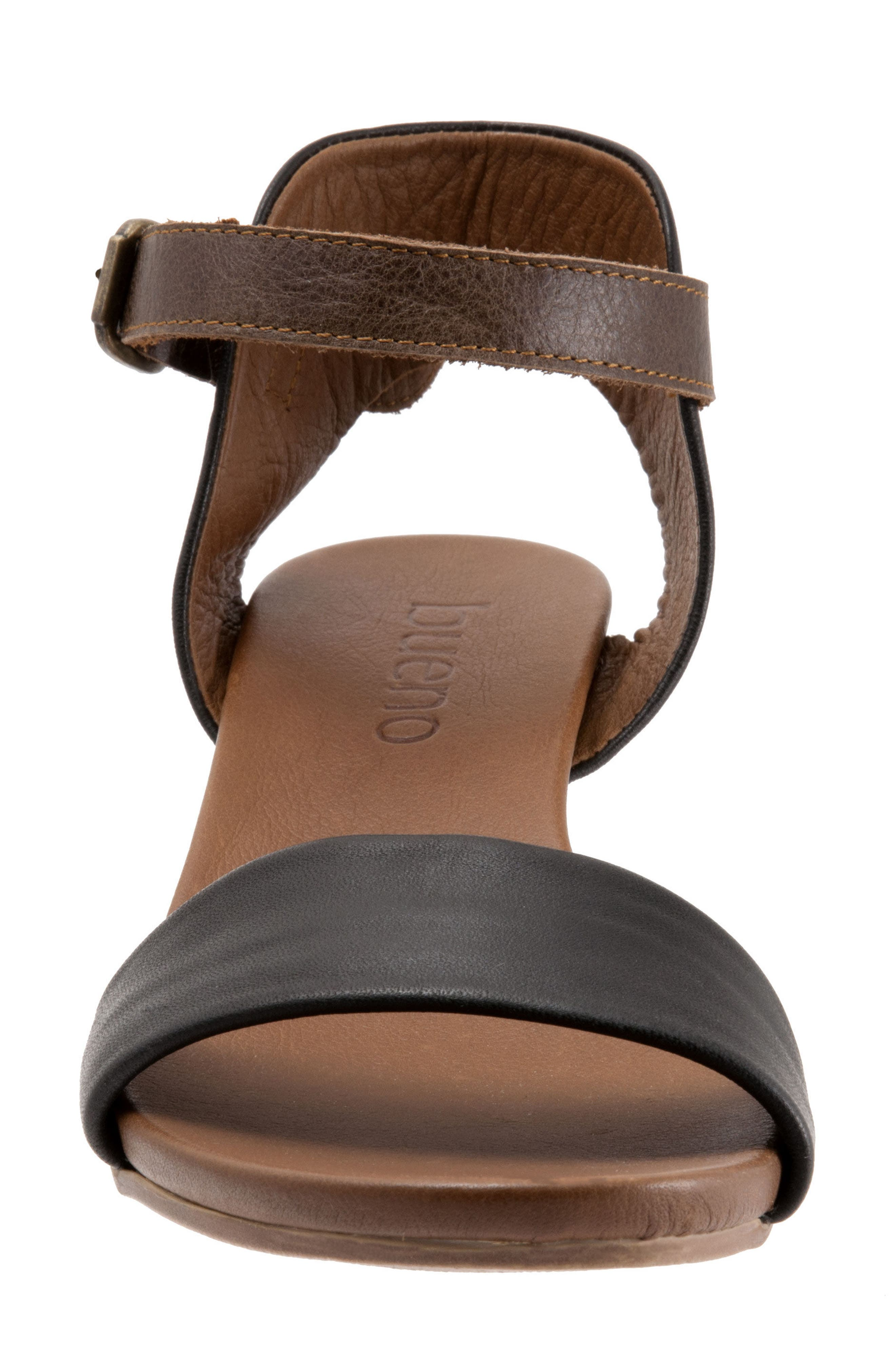Sue Sandal,                             Alternate thumbnail 4, color,                             BLACK LEATHER