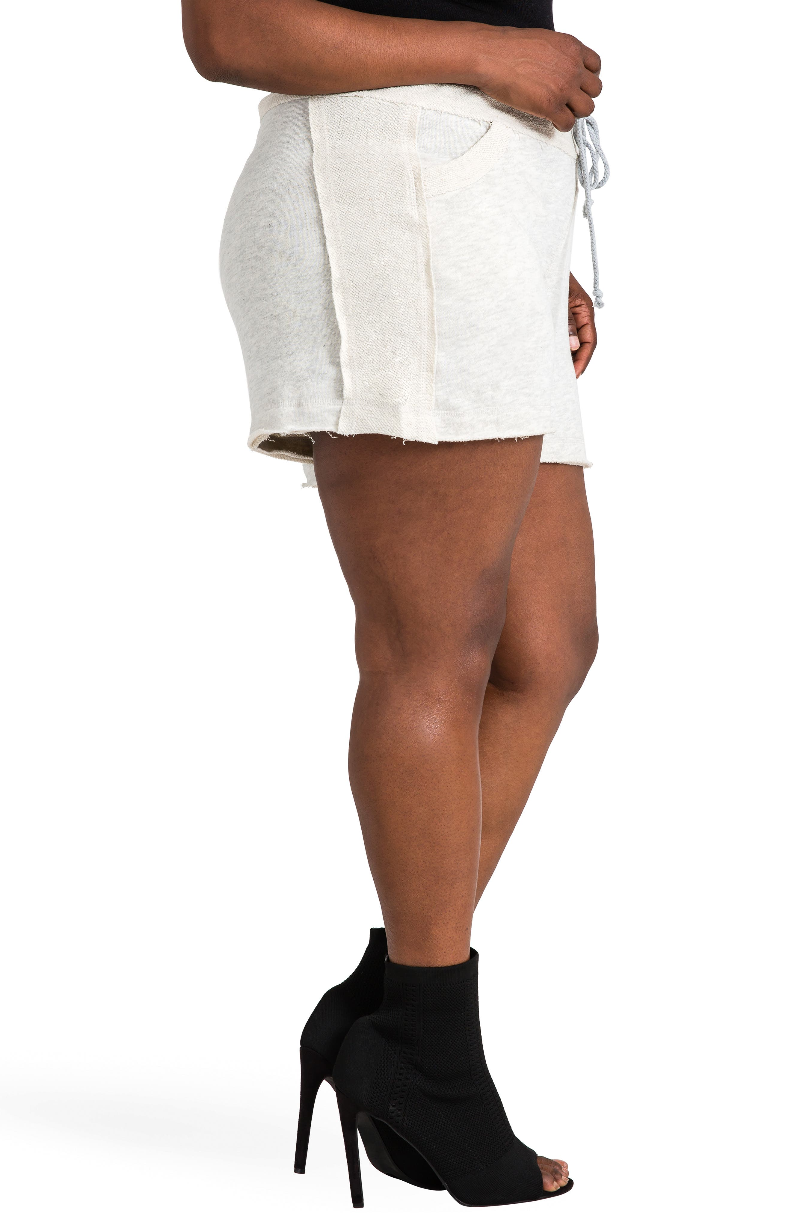 Cassy French Terry Shorts,                             Alternate thumbnail 3, color,                             GREY