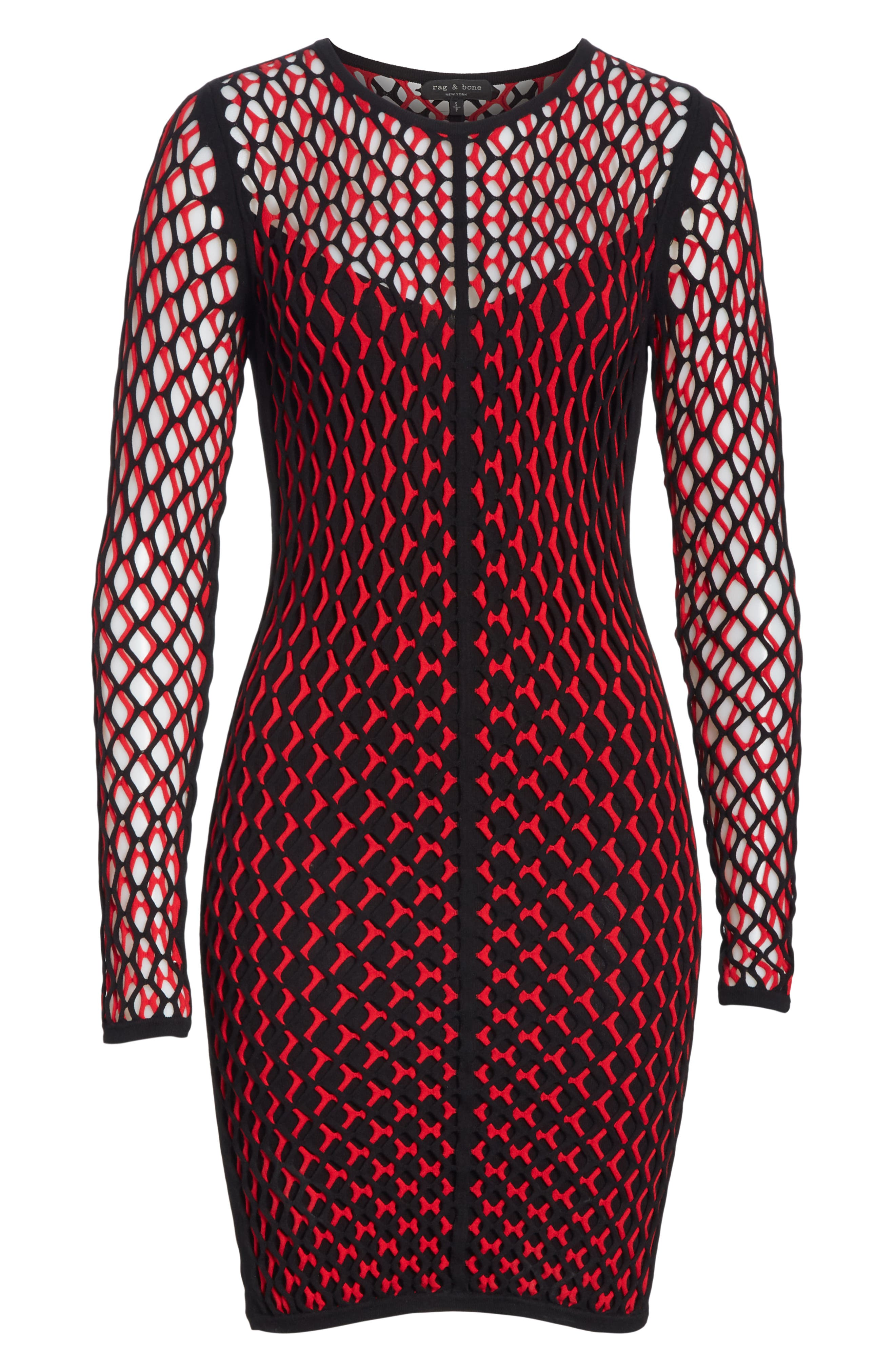 Wes Layered Body-Con Dress,                             Alternate thumbnail 6, color,                             627