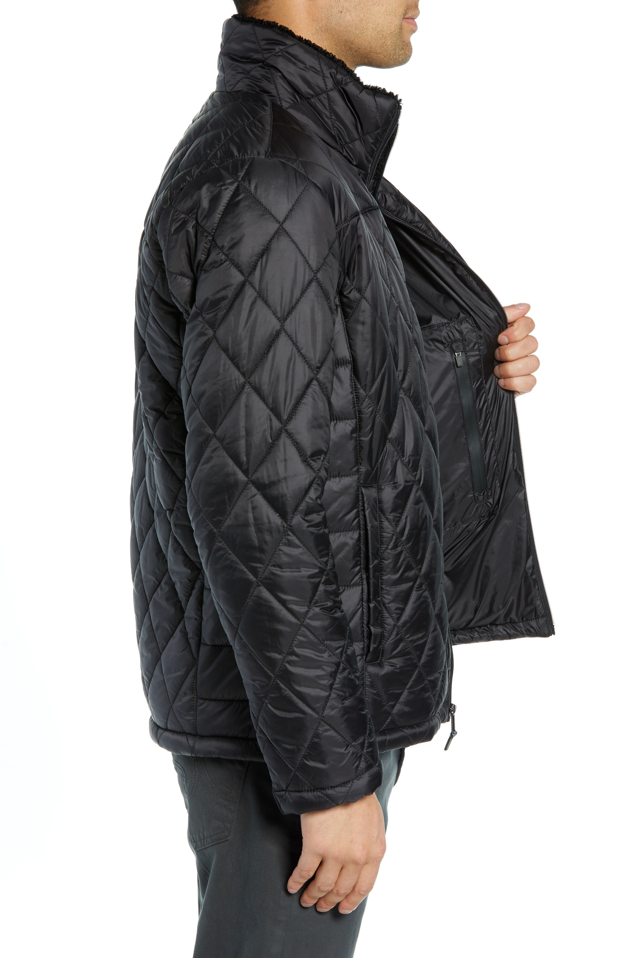 Transit Quilted Jacket,                             Alternate thumbnail 3, color,                             BLACK