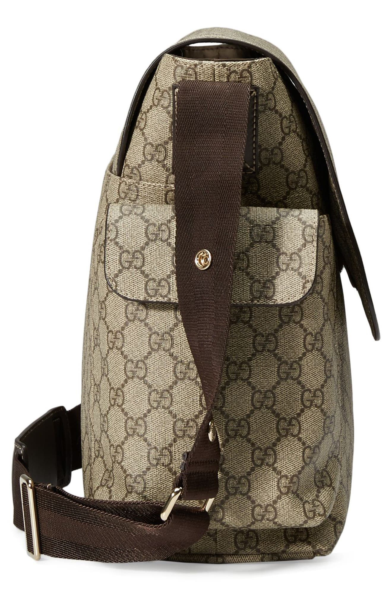 Diaper Messenger Bag,                             Alternate thumbnail 9, color,                             BEIGE/ COCOA