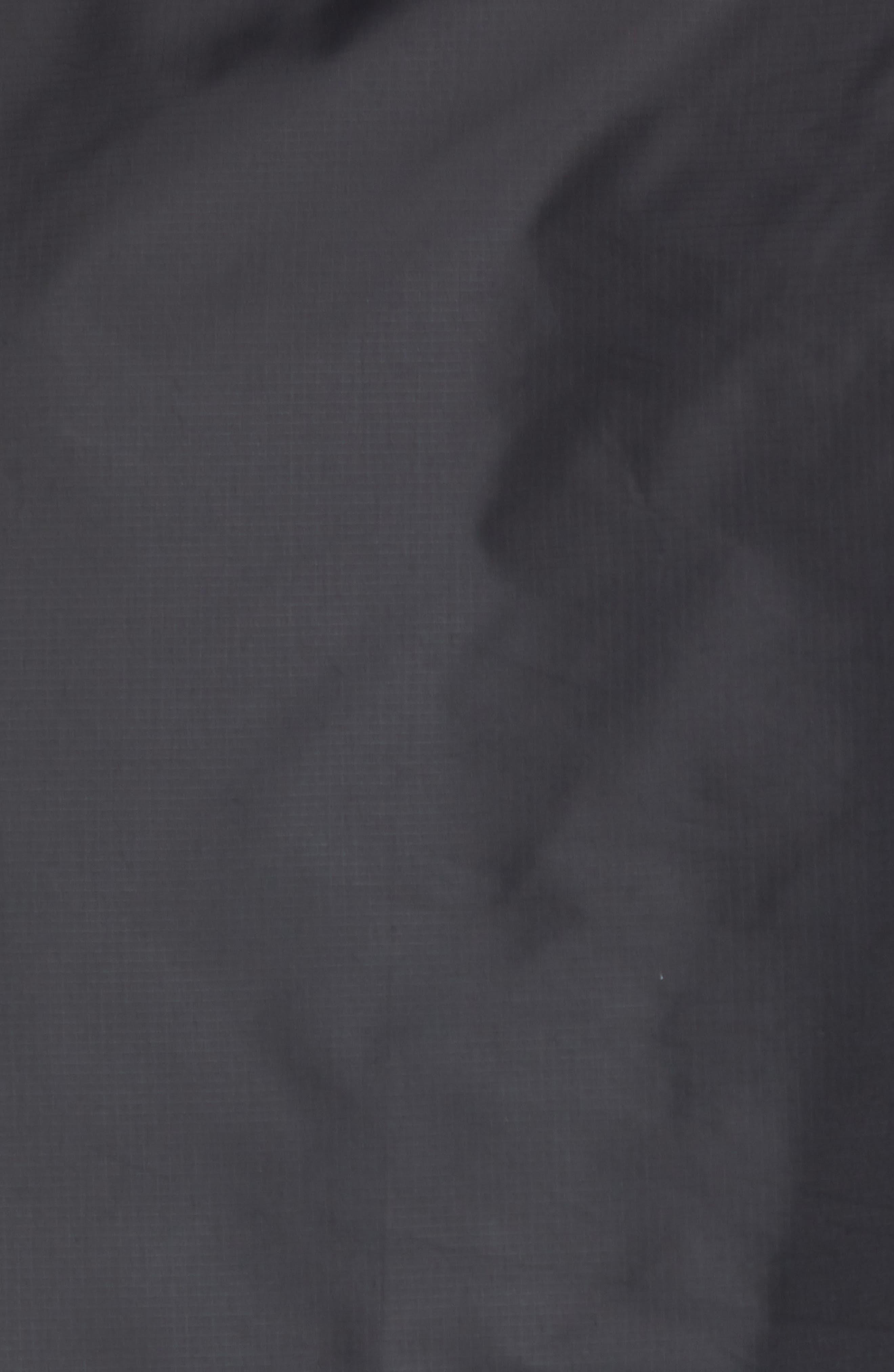 Long Sleeve Crinkle Crew Running Shirt,                             Alternate thumbnail 5, color,                             BLACK