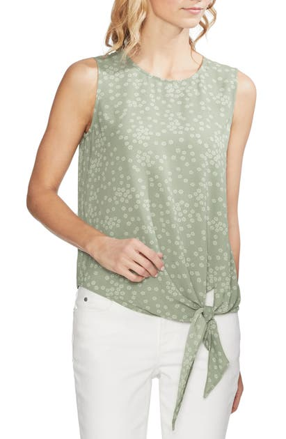 Vince Camuto Tops DITSY SHOWERS TIE FRONT BLOUSE