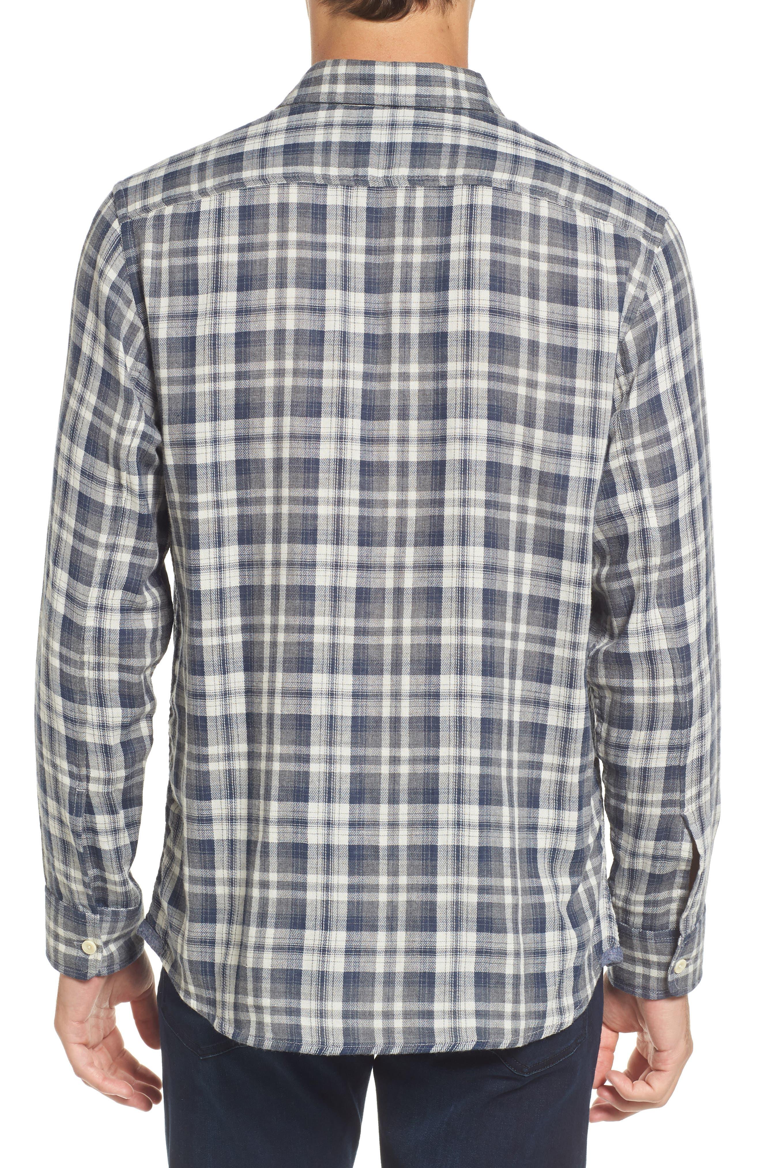 Saratoga Modern Fit Plaid Double Cloth Sport Shirt,                             Alternate thumbnail 2, color,                             060