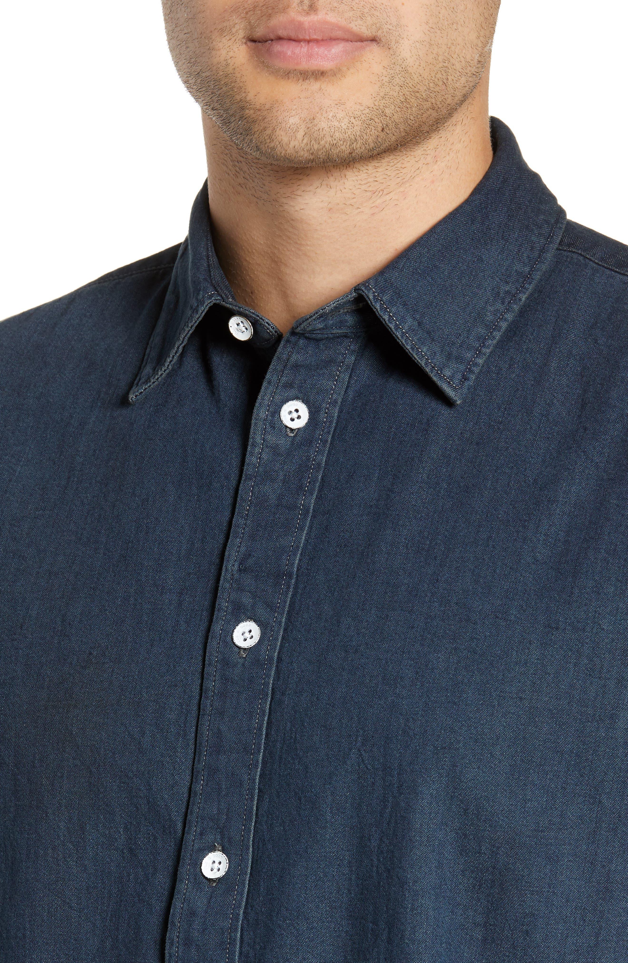 RAG & BONE,                             Fit 3 Denim Sport Shirt,                             Alternate thumbnail 2, color,                             STONE BLUE