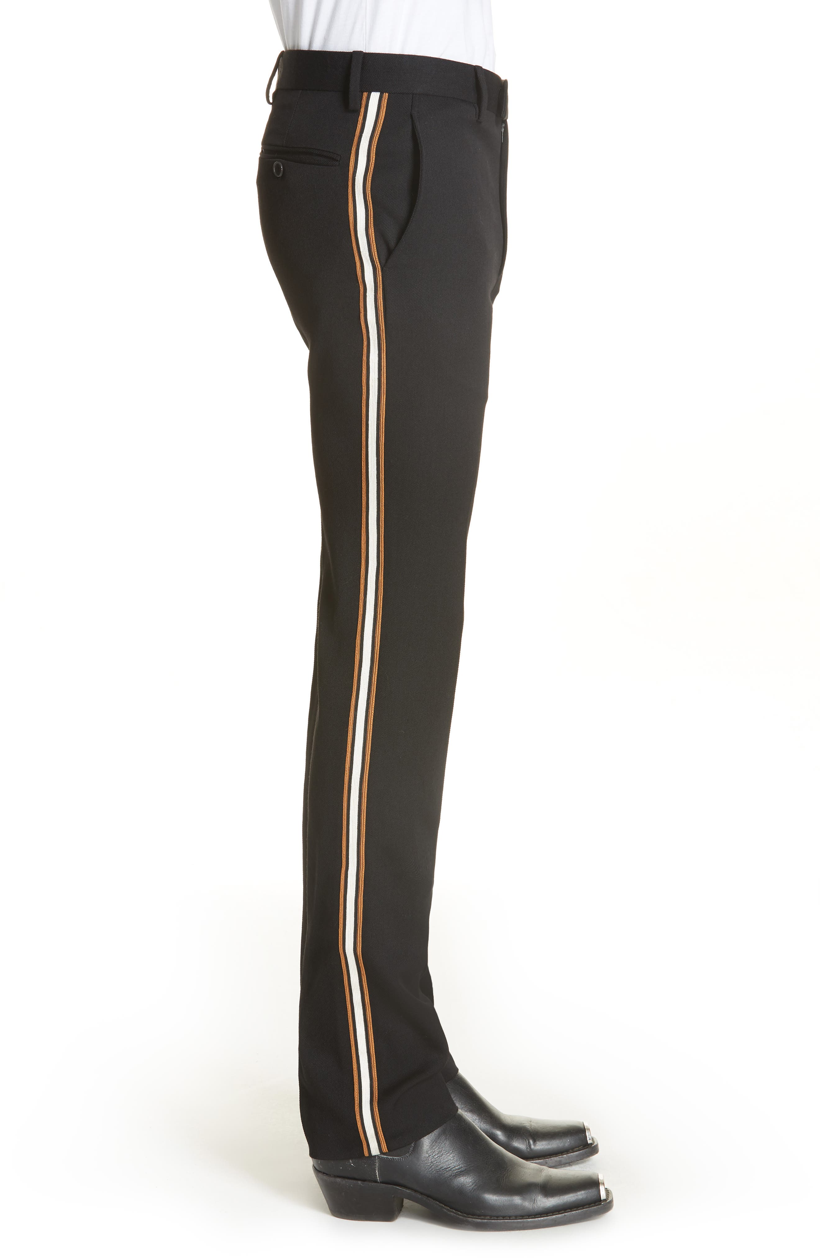 CALVIN KLEIN 205W39NYC,                             Uniform Stripe Trousers,                             Alternate thumbnail 3, color,                             060