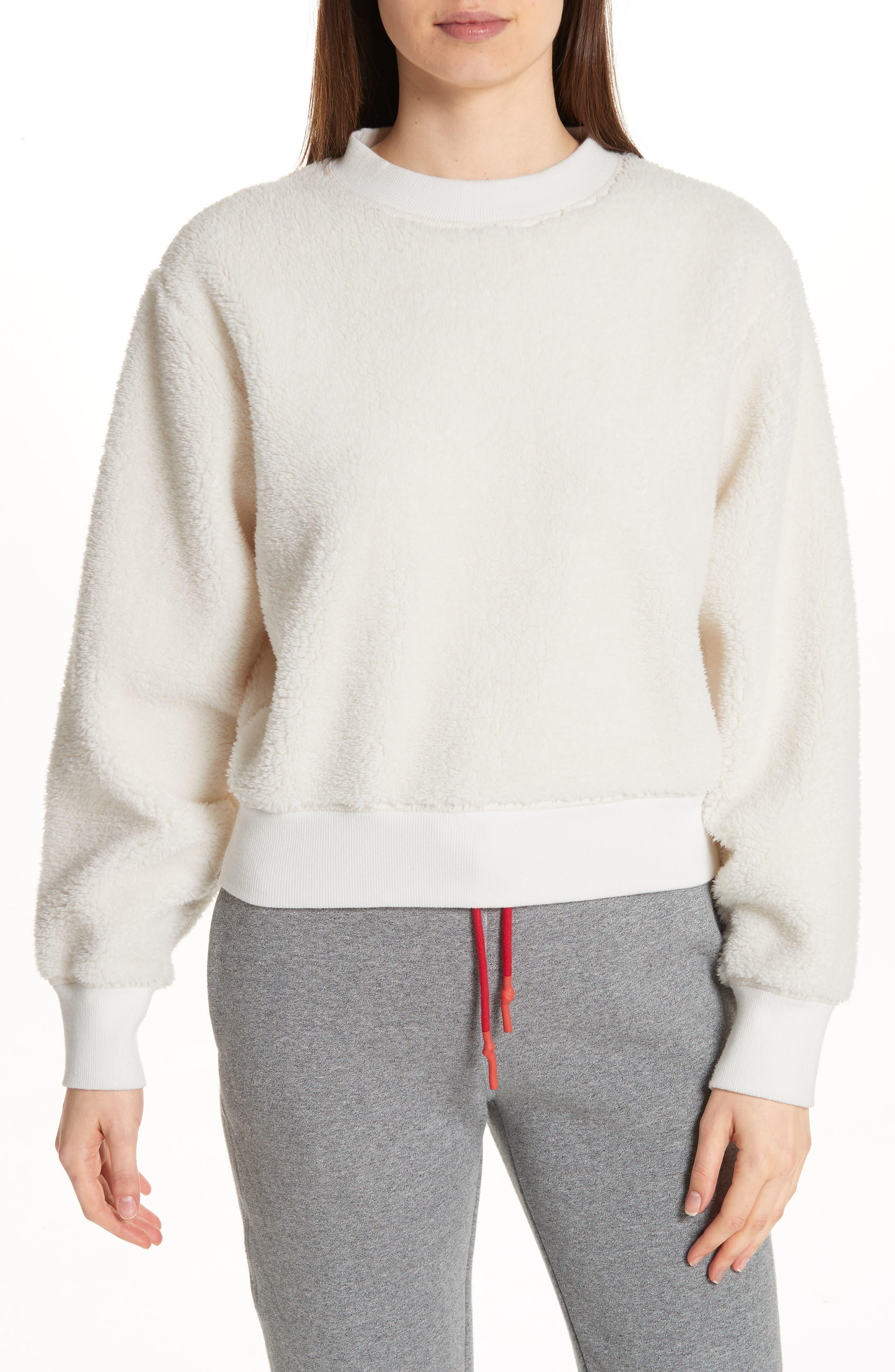 Teddy Sweatshirt, Main, color, CHALK