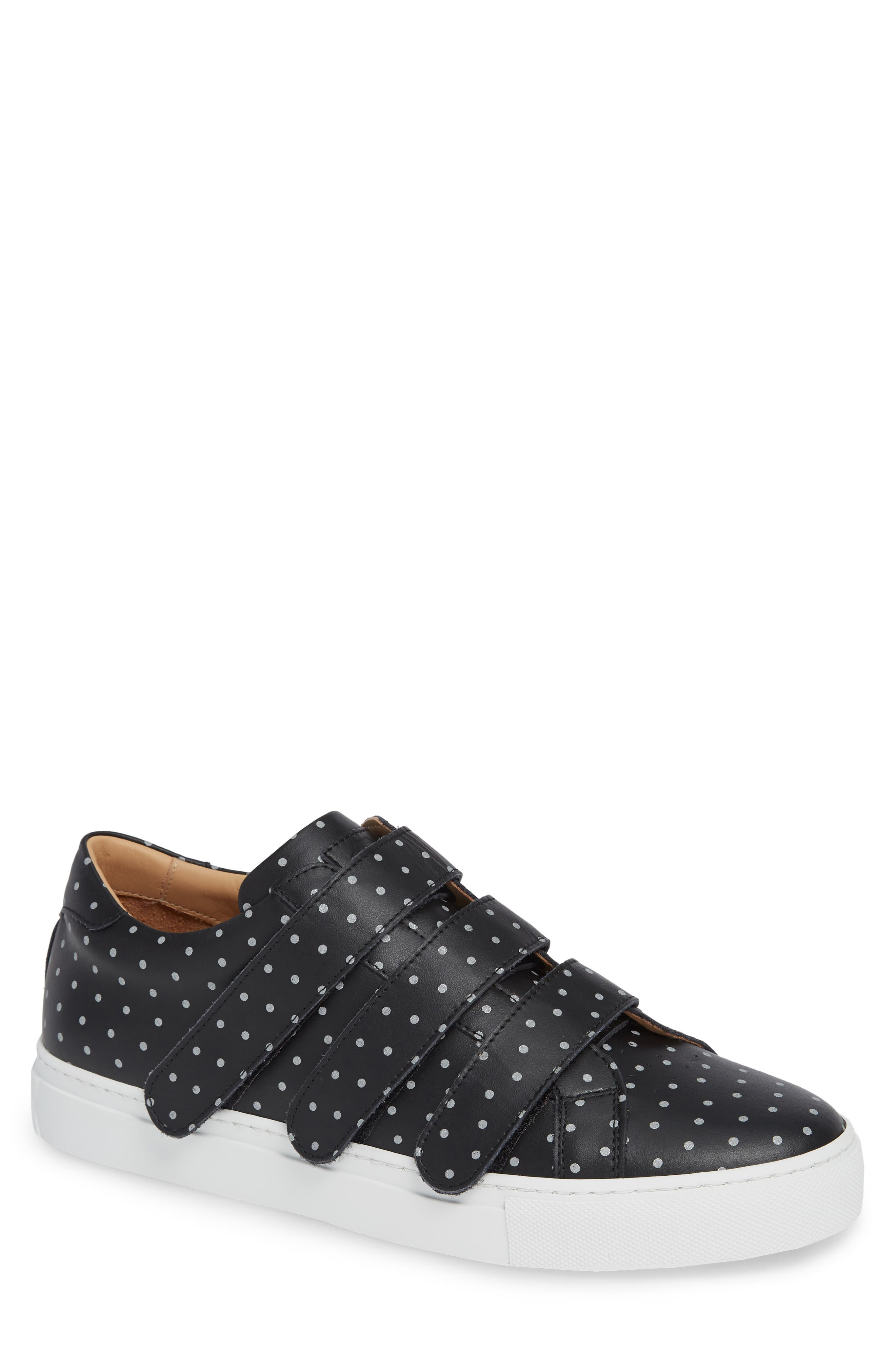 Nick Wooster x GREATS Royale Low Top Sneaker,                             Main thumbnail 1, color,                             BLACK LEATHER 3M