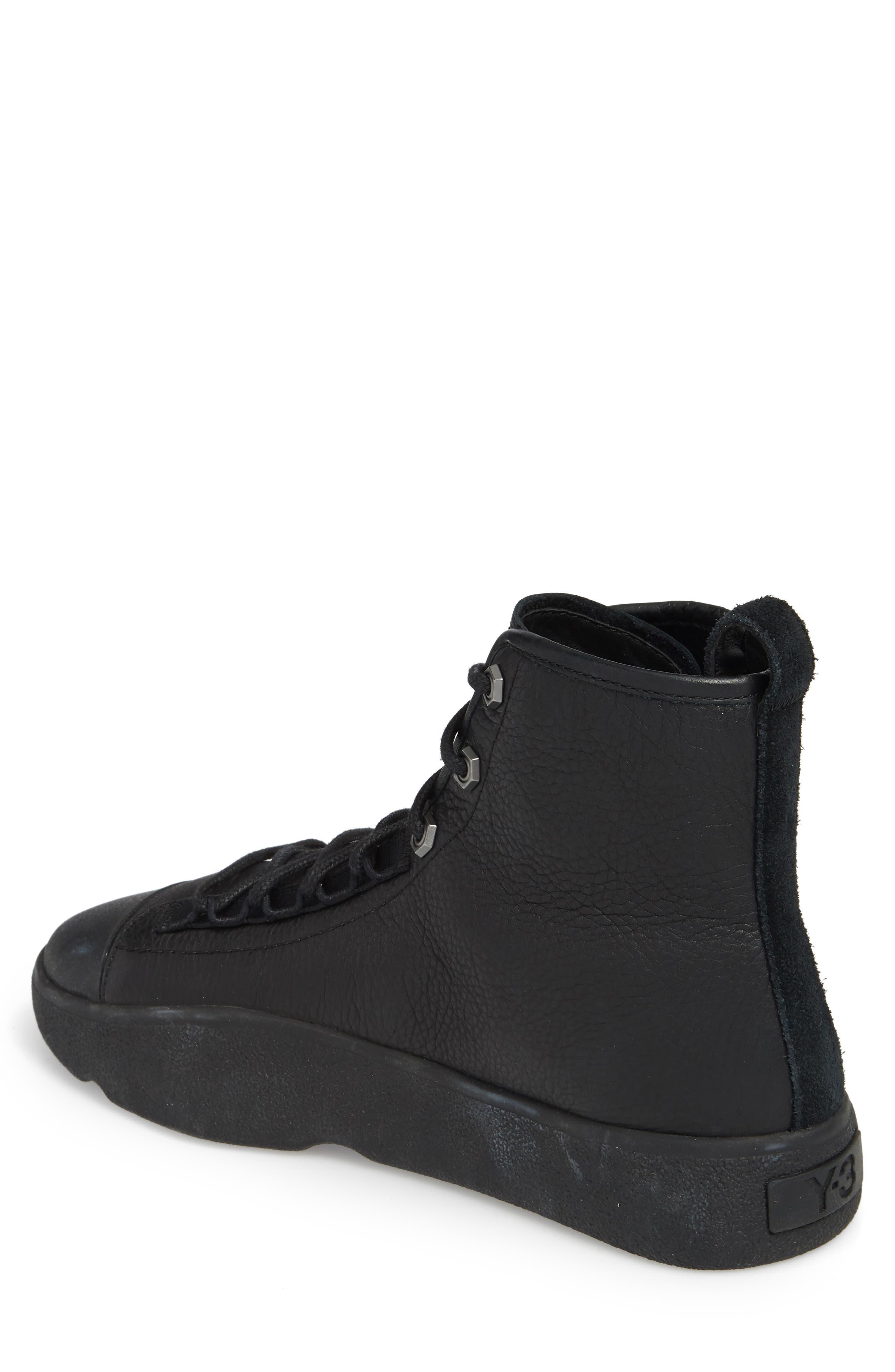 x adidas Bashyo High Top Sneaker,                             Alternate thumbnail 2, color,                             BLACK/BLACK
