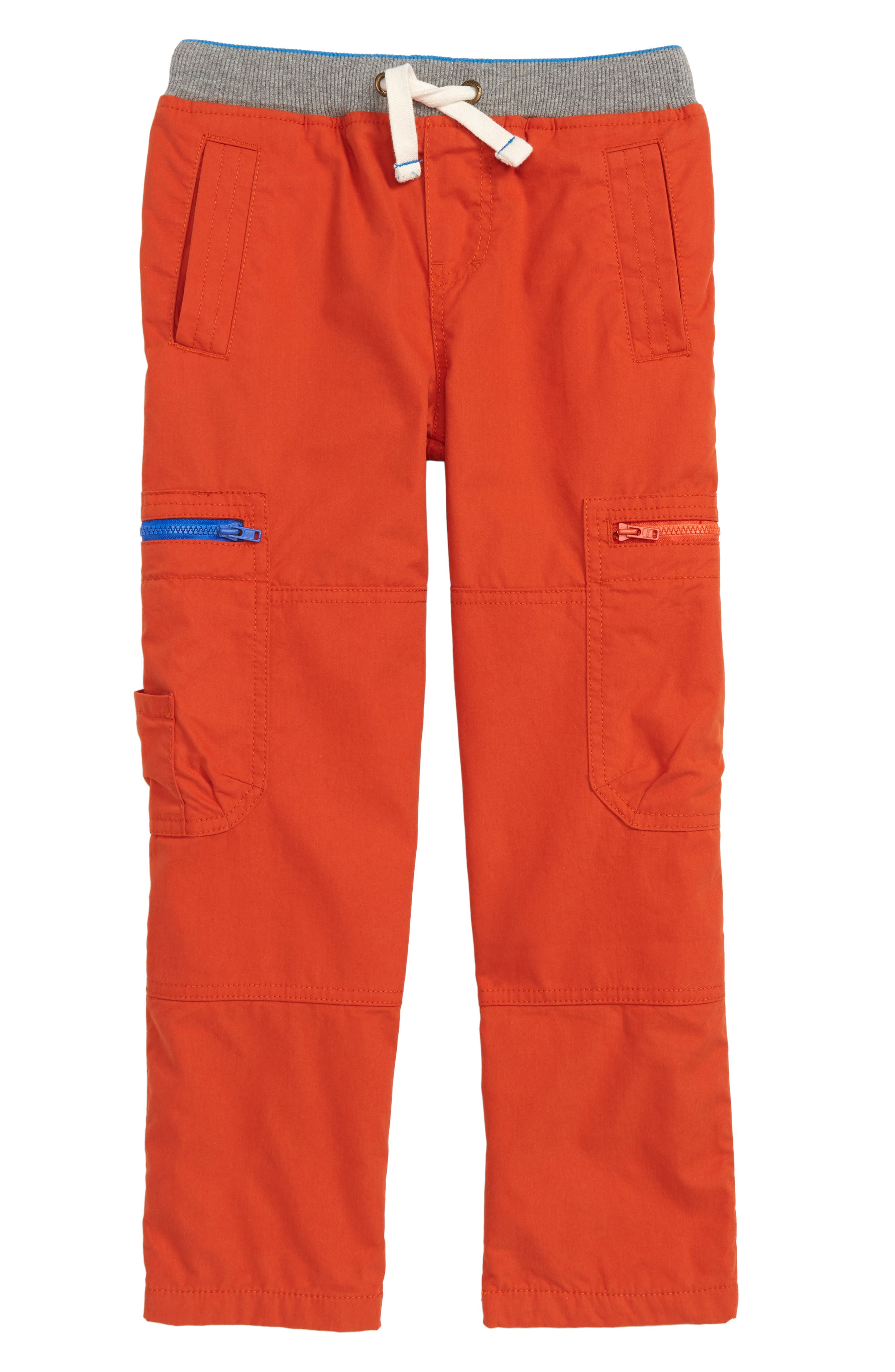Cargo Pull On Pants,                         Main,                         color, LAVA ORANGE