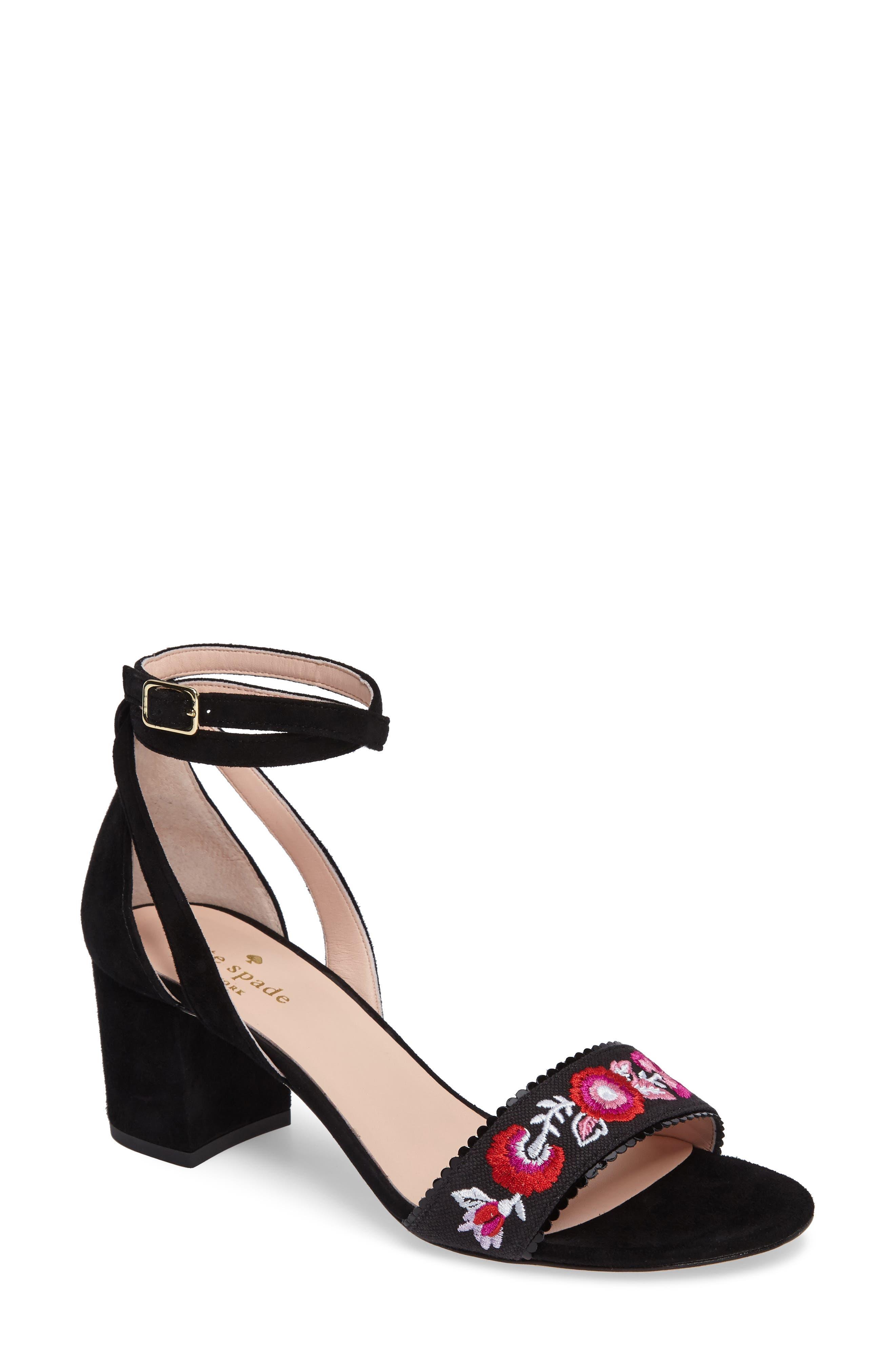 watson genuine calf hair block heel sandal,                             Main thumbnail 1, color,                             001