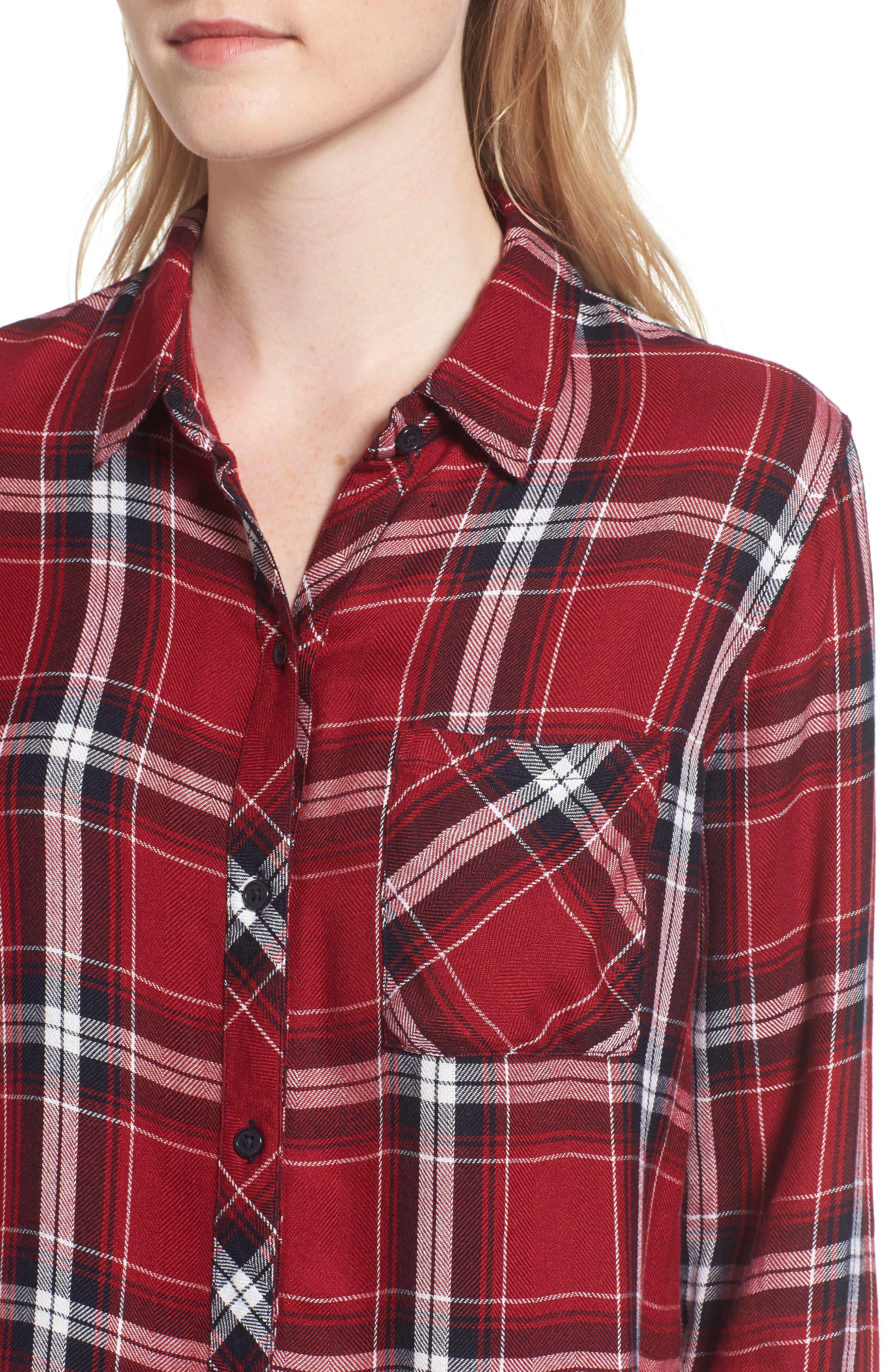Hunter Plaid Shirt,                             Alternate thumbnail 497, color,