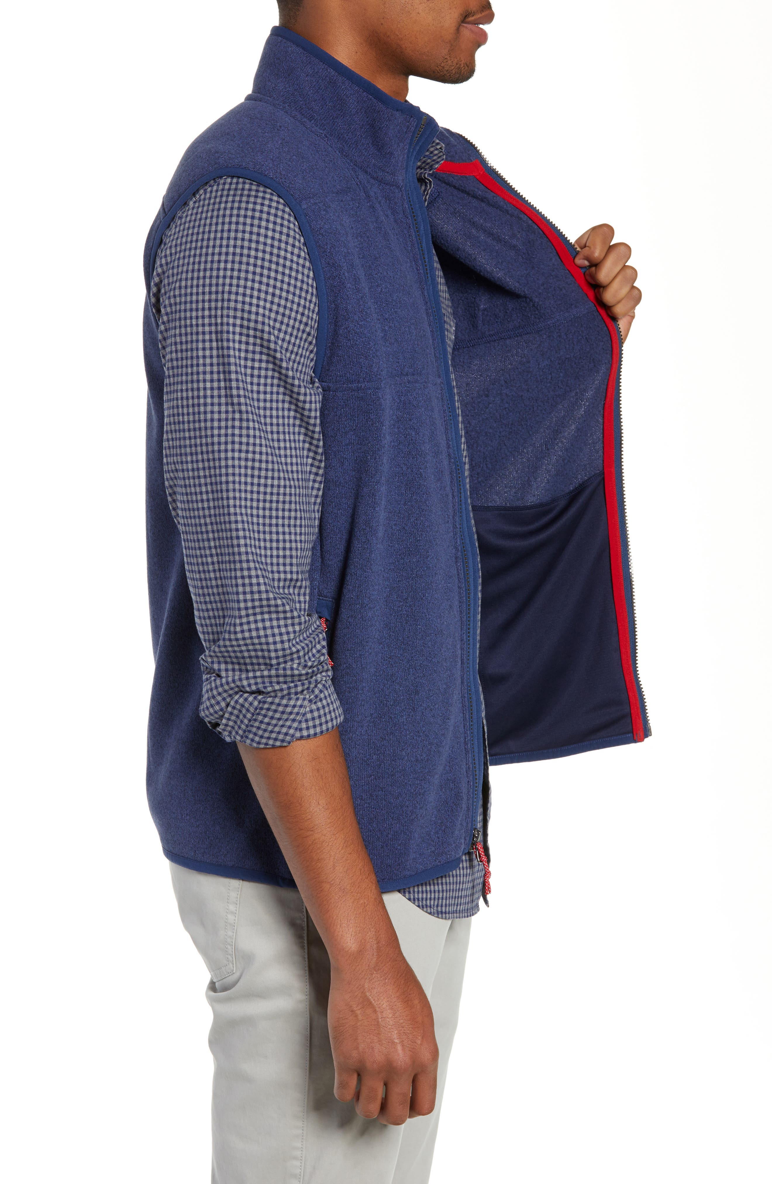 Fleece Vest,                             Alternate thumbnail 3, color,                             DEEP BAY