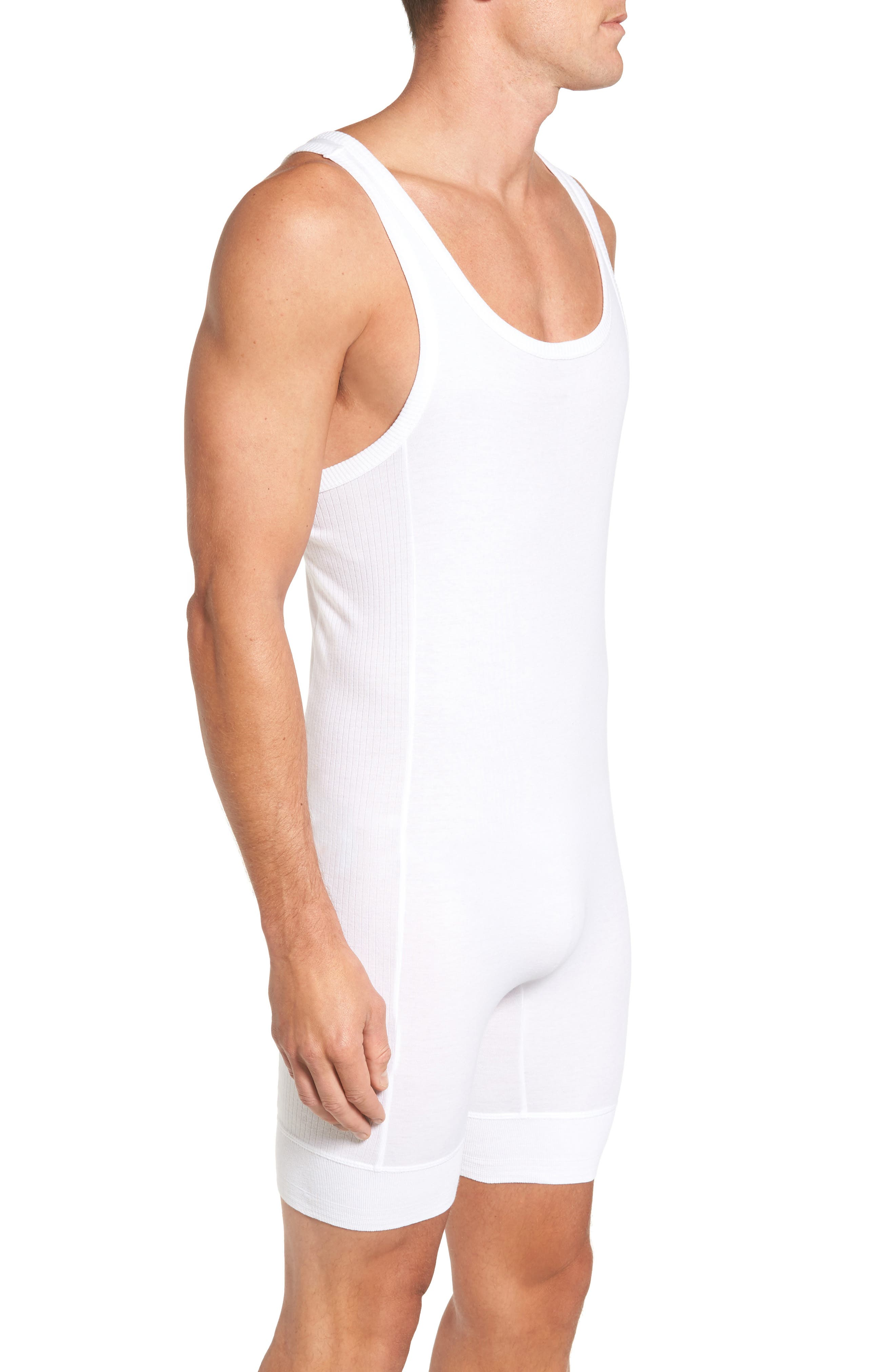 Ribbed Singlet,                             Alternate thumbnail 3, color,                             100