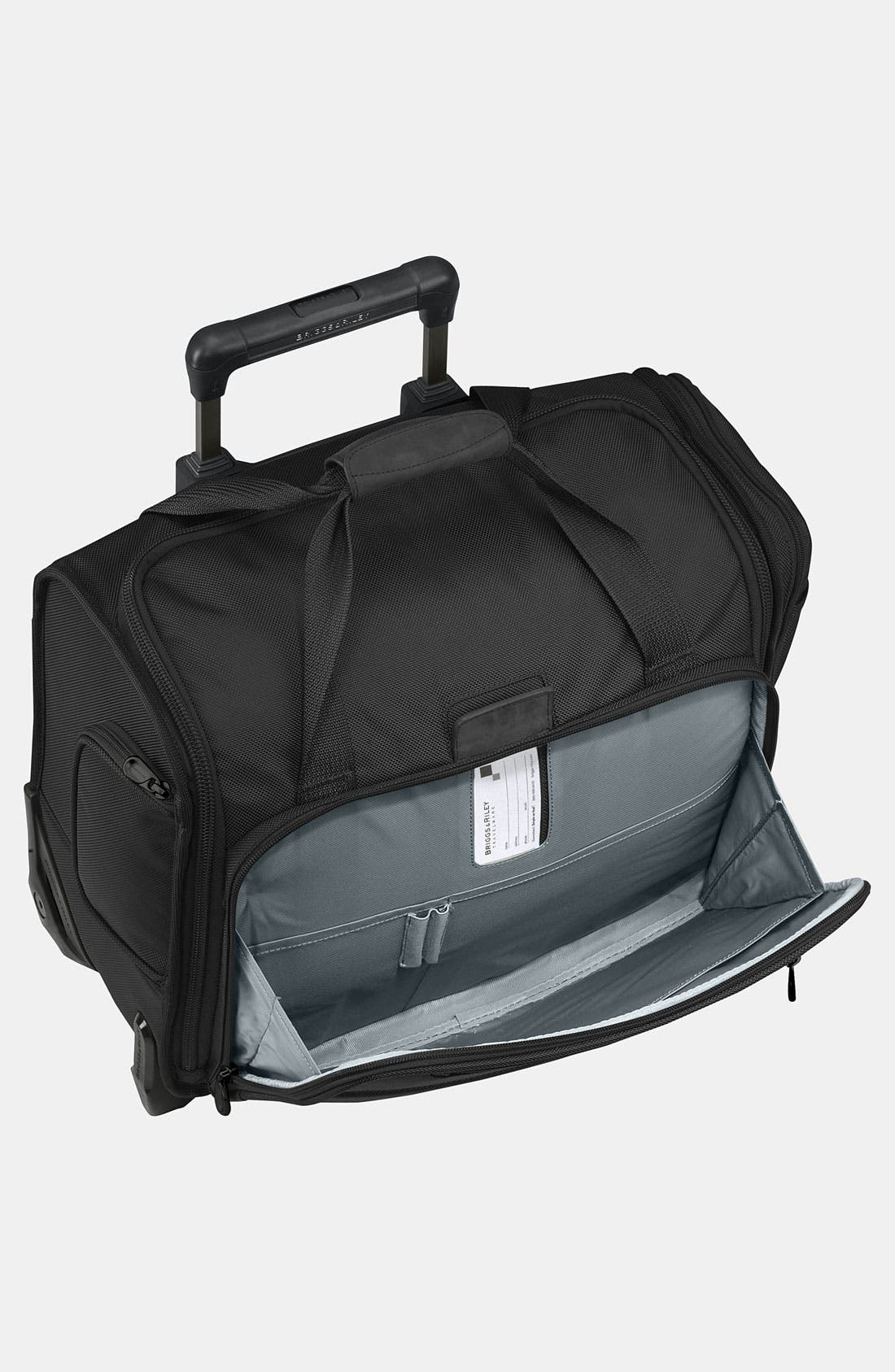 'Baseline' Rolling Cabin Bag,                             Alternate thumbnail 2, color,                             BLACK