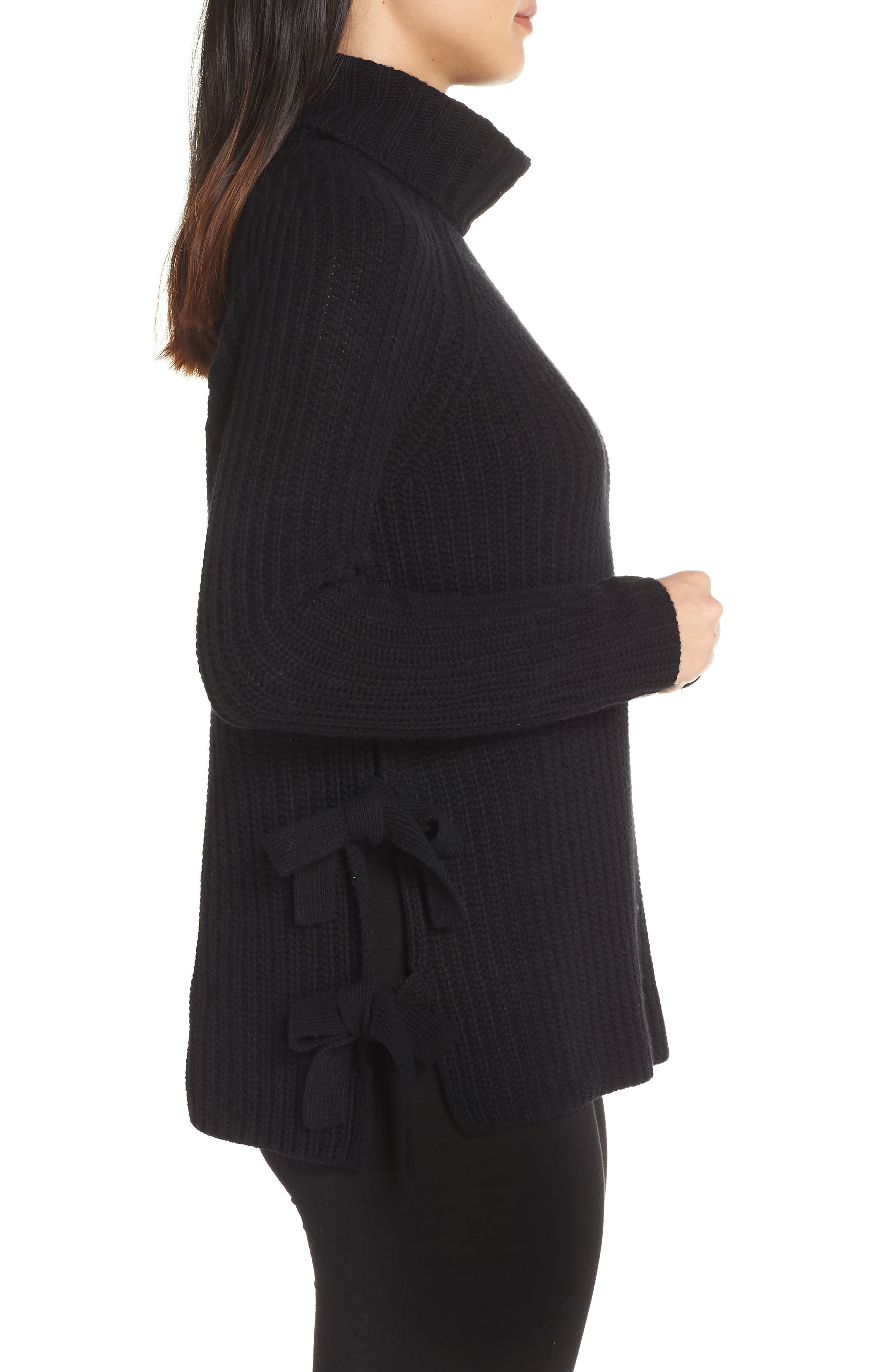 Ceanne Turtleneck Sweater,                             Alternate thumbnail 3, color,                             001