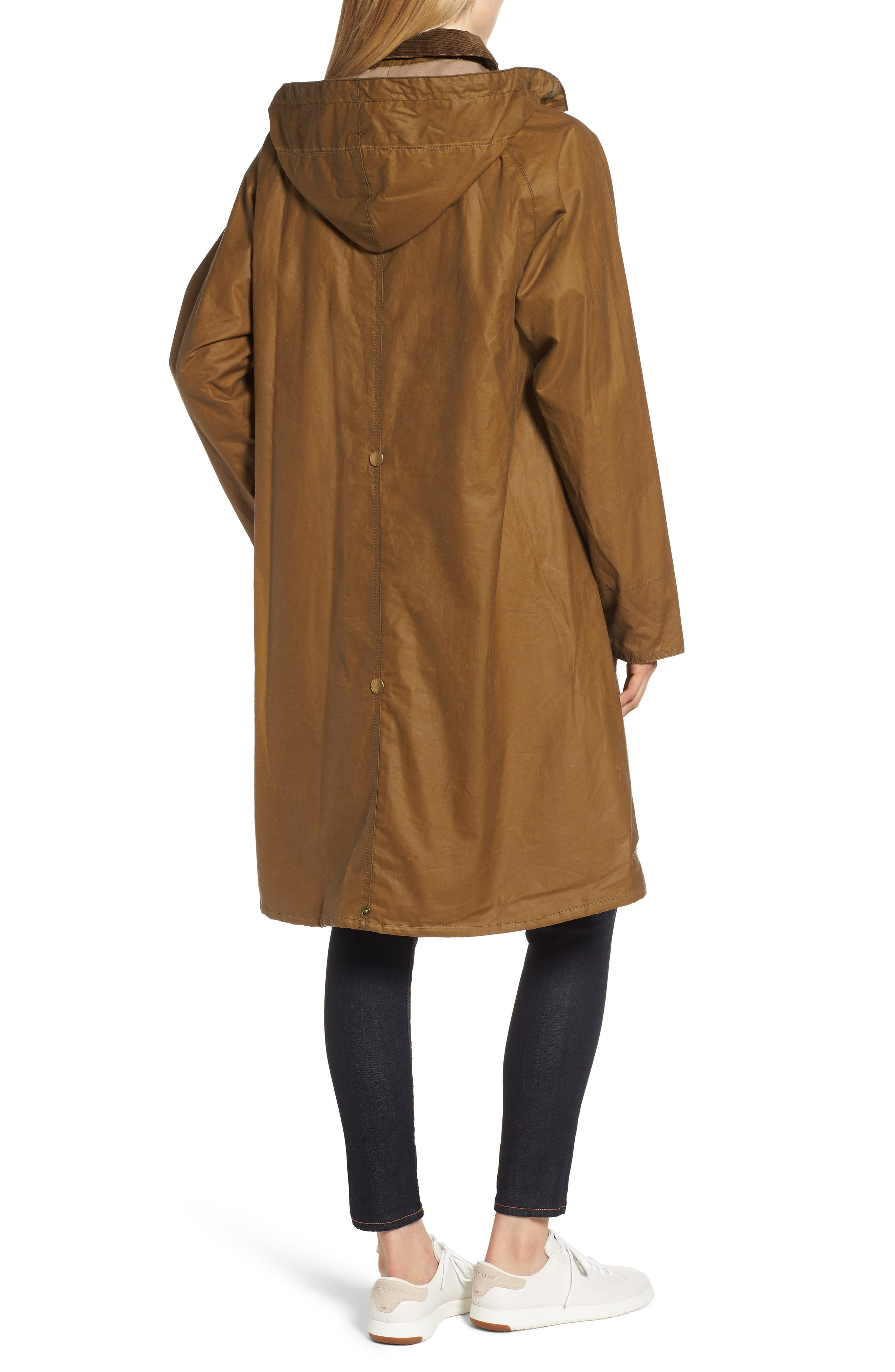 Margaret Howell Water Resistant Waxed Cotton Poncho,                             Alternate thumbnail 2, color,                             SAND
