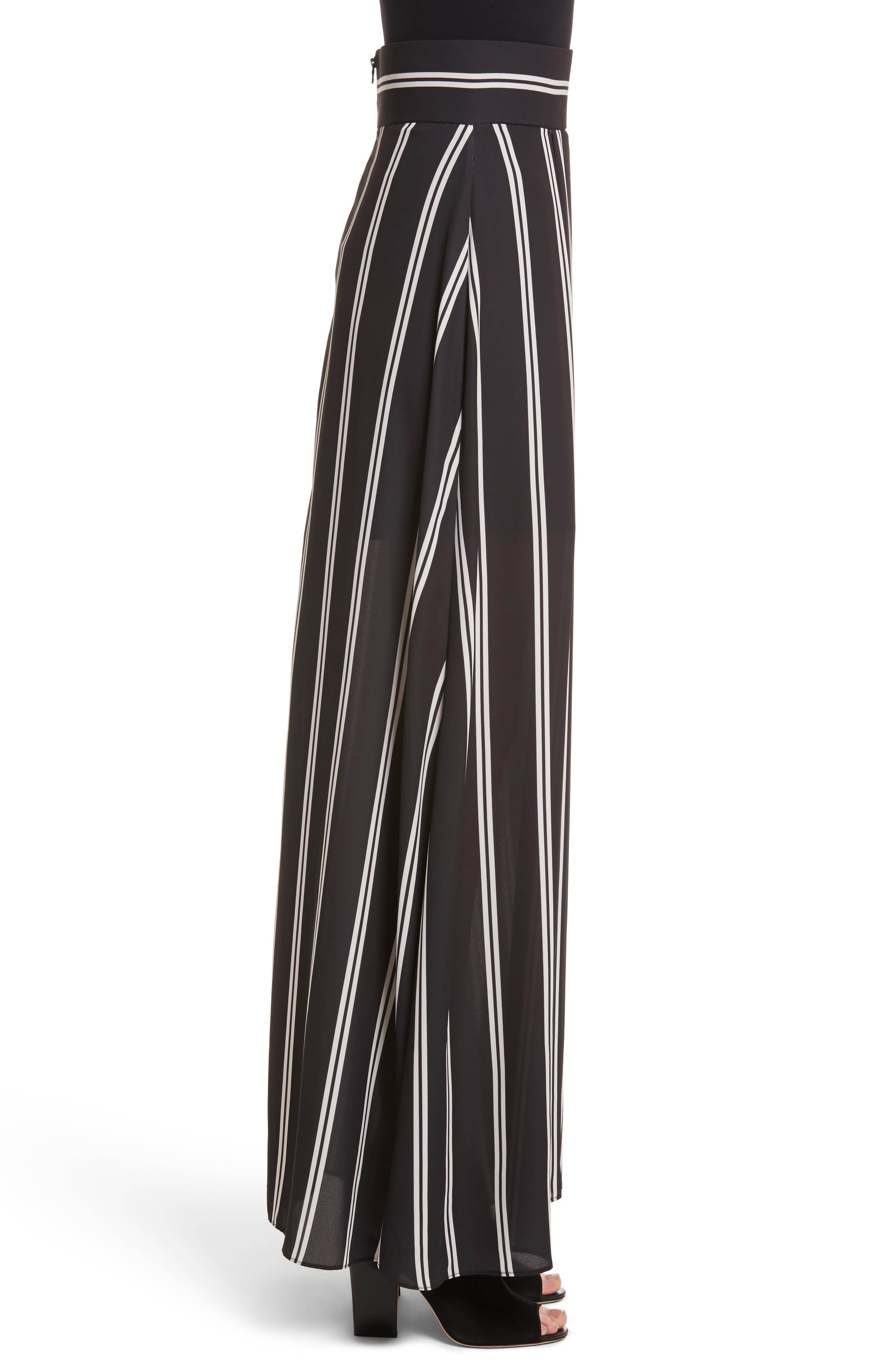 Gabel Clean Pleat Maxi Skirt,                             Alternate thumbnail 3, color,                             002