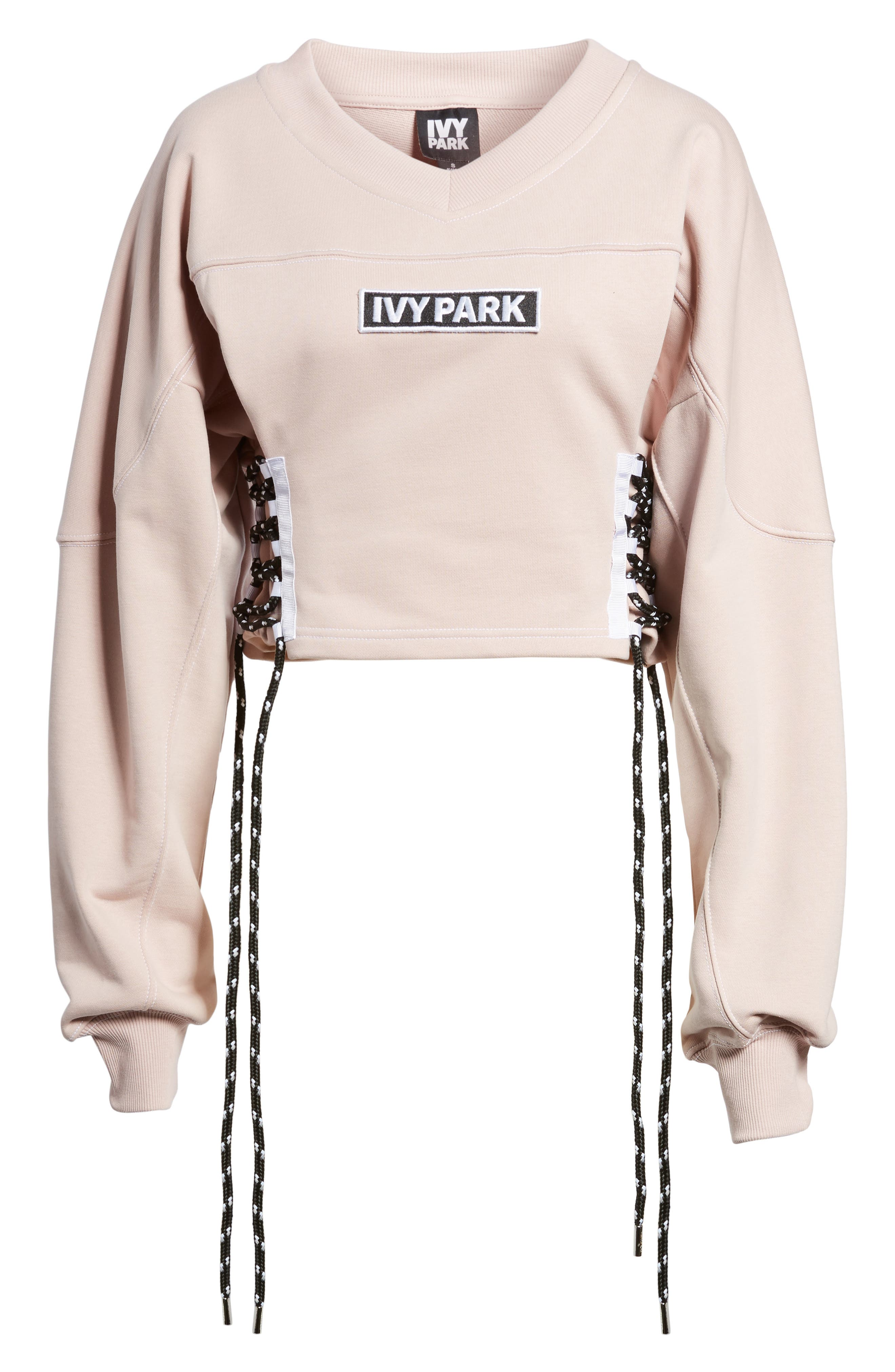 Football Lace-Up Sweatshirt,                             Alternate thumbnail 7, color,                             020