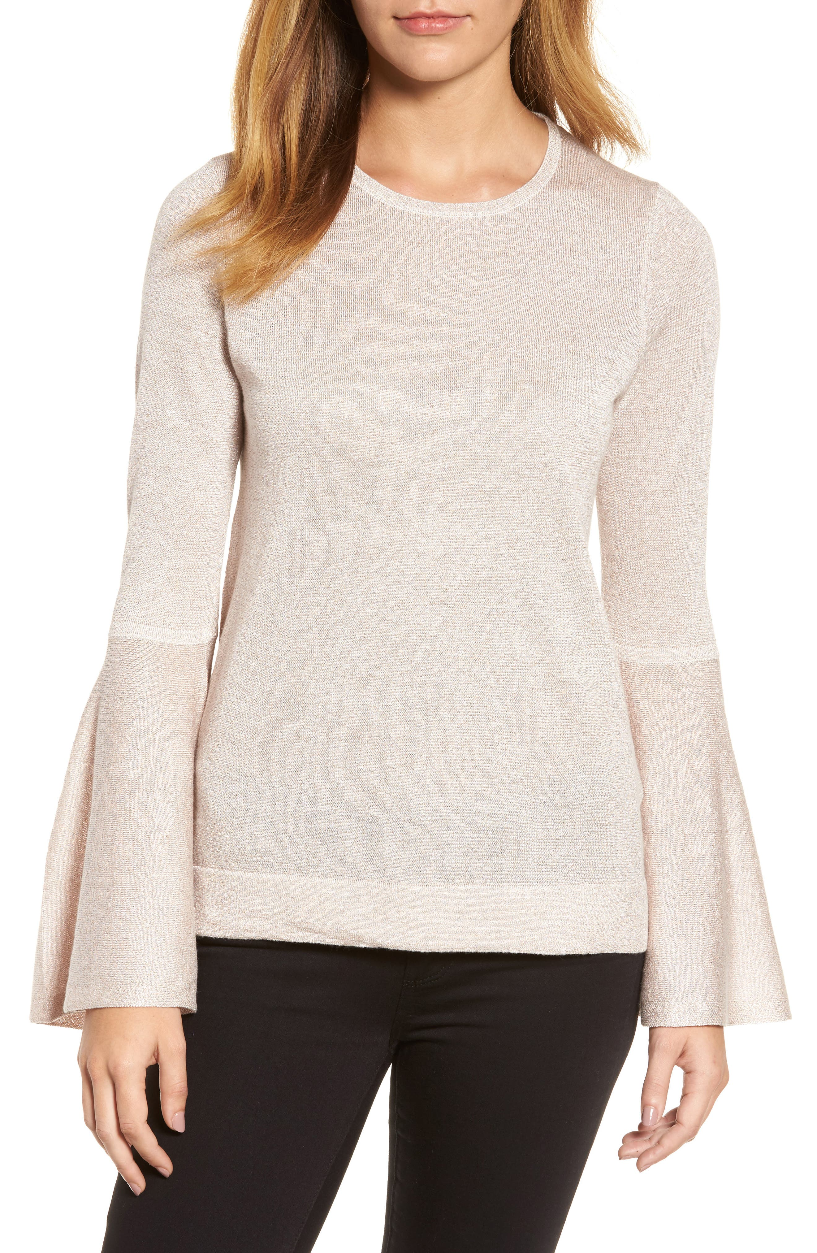 Bell Sleeve Sweater,                             Main thumbnail 3, color,