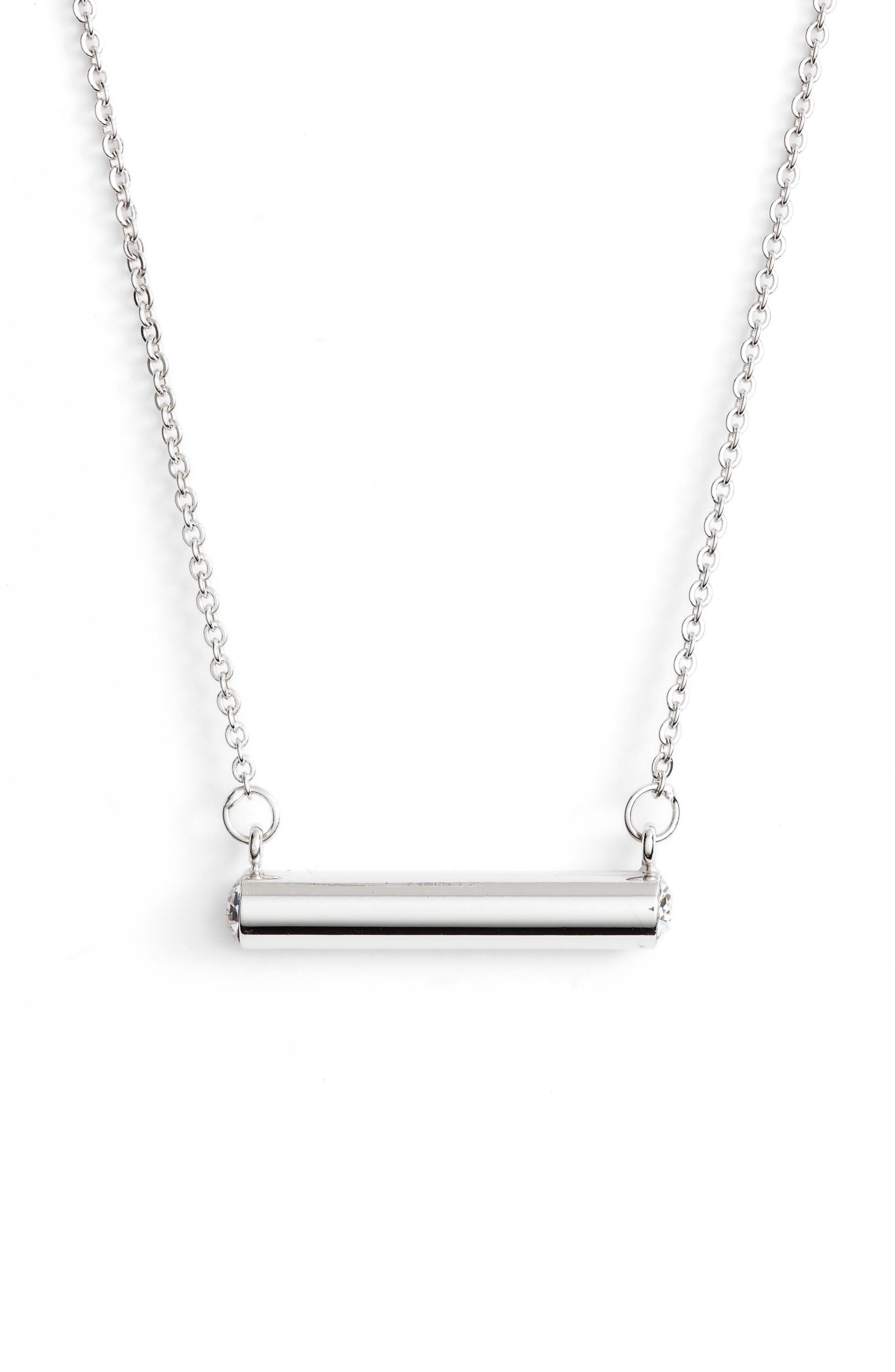 Stella Vale April Crystal Bar Pendant Necklace,                         Main,                         color, 040