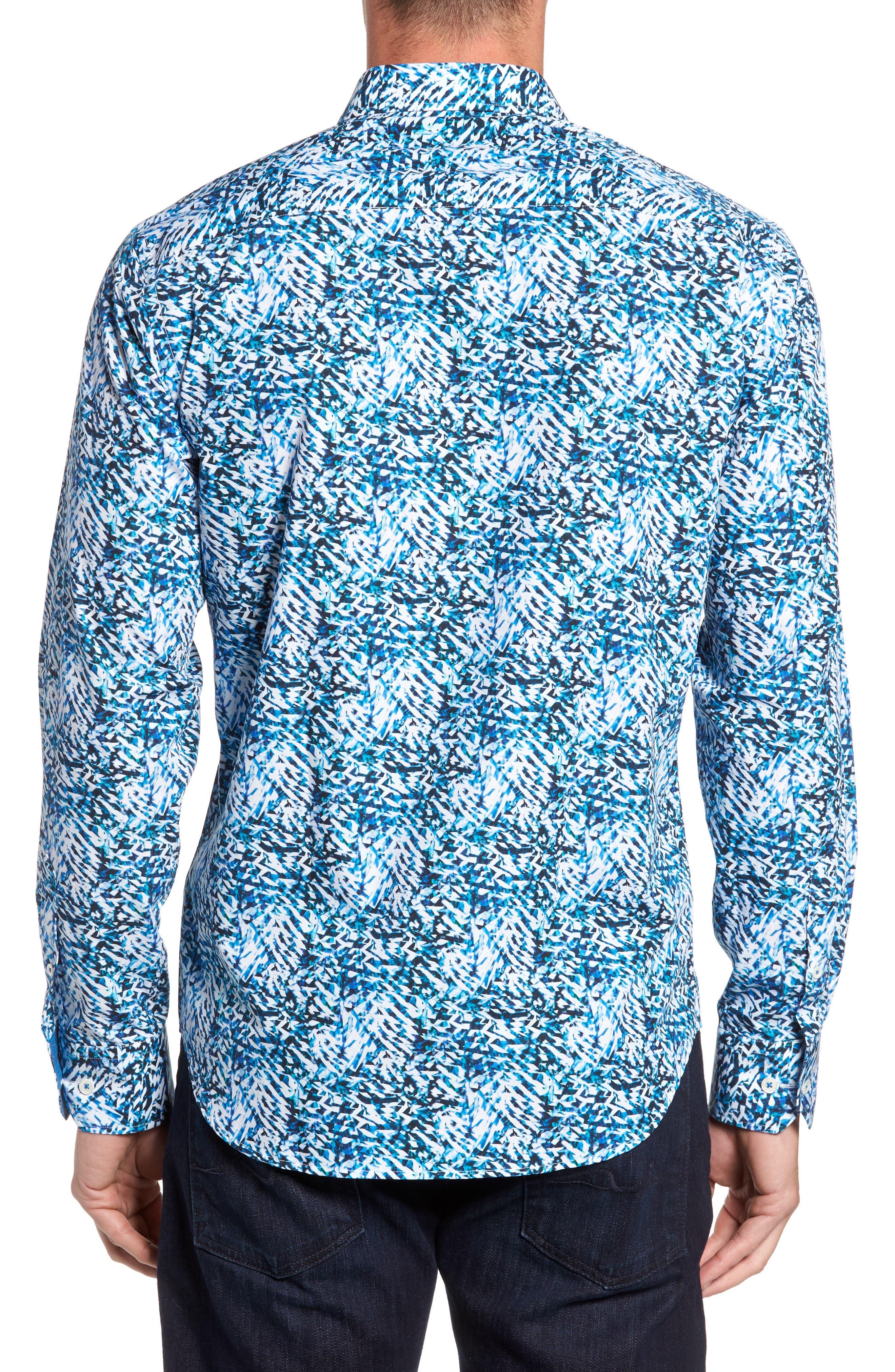 Shaped Fit Sport Shirt,                             Alternate thumbnail 2, color,                             422