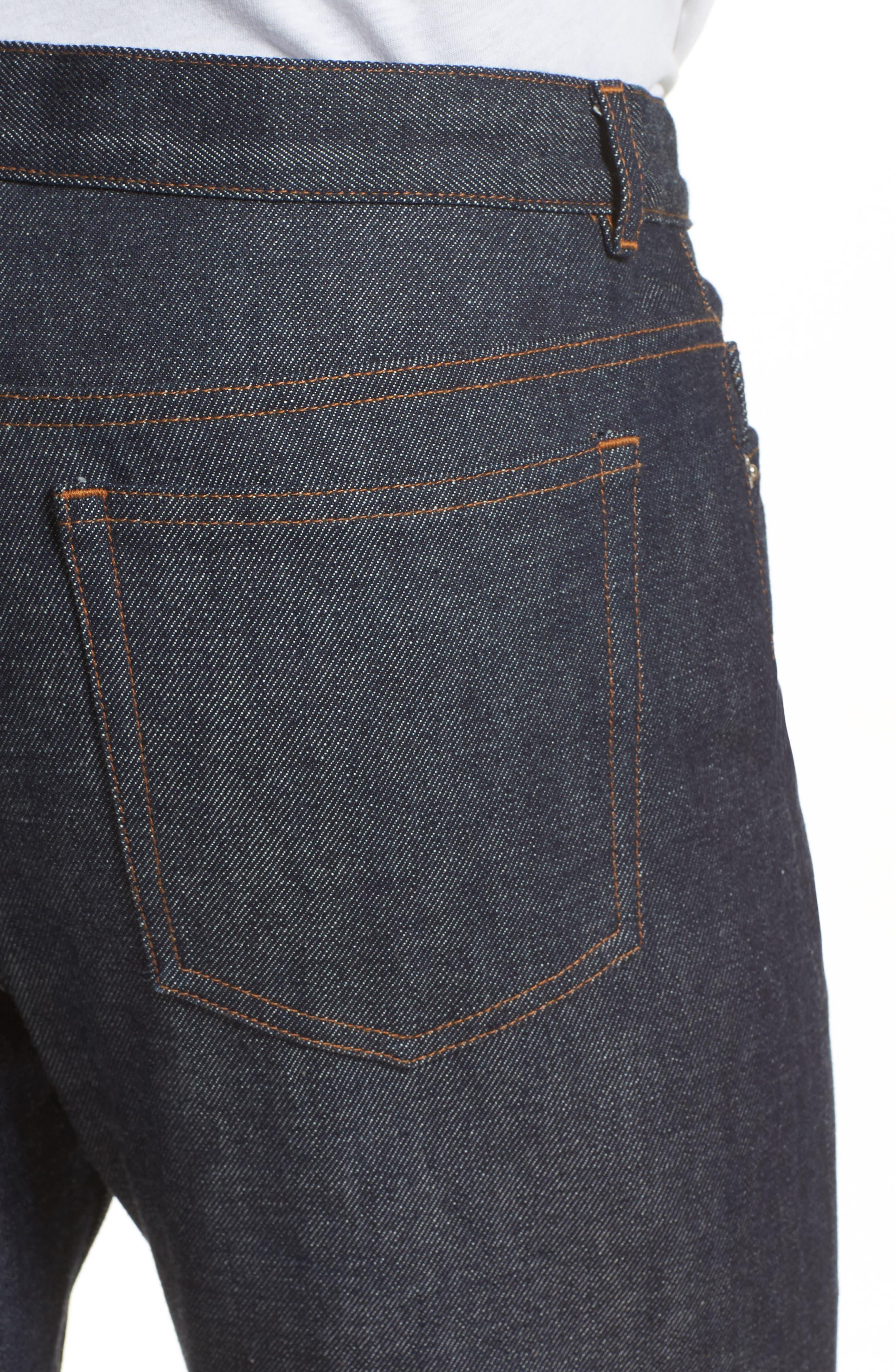 High Waist Standard Selvedge Jeans,                             Alternate thumbnail 4, color,                             468