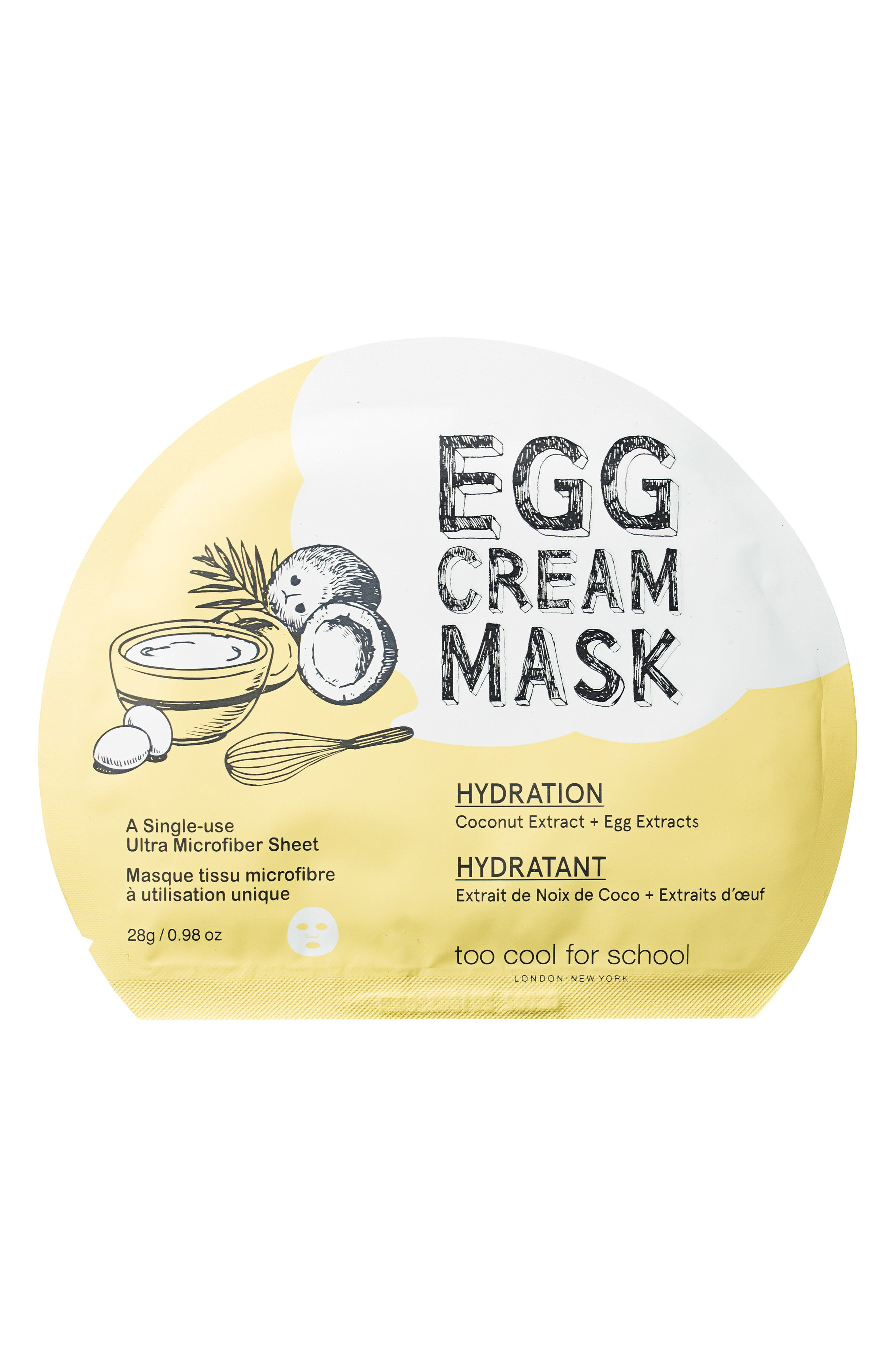 Egg Cream Mask Hydration,                         Main,                         color, 000