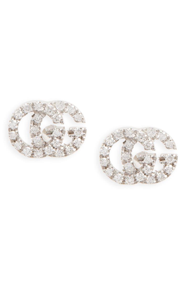 Double G Diamond Stud Earrings