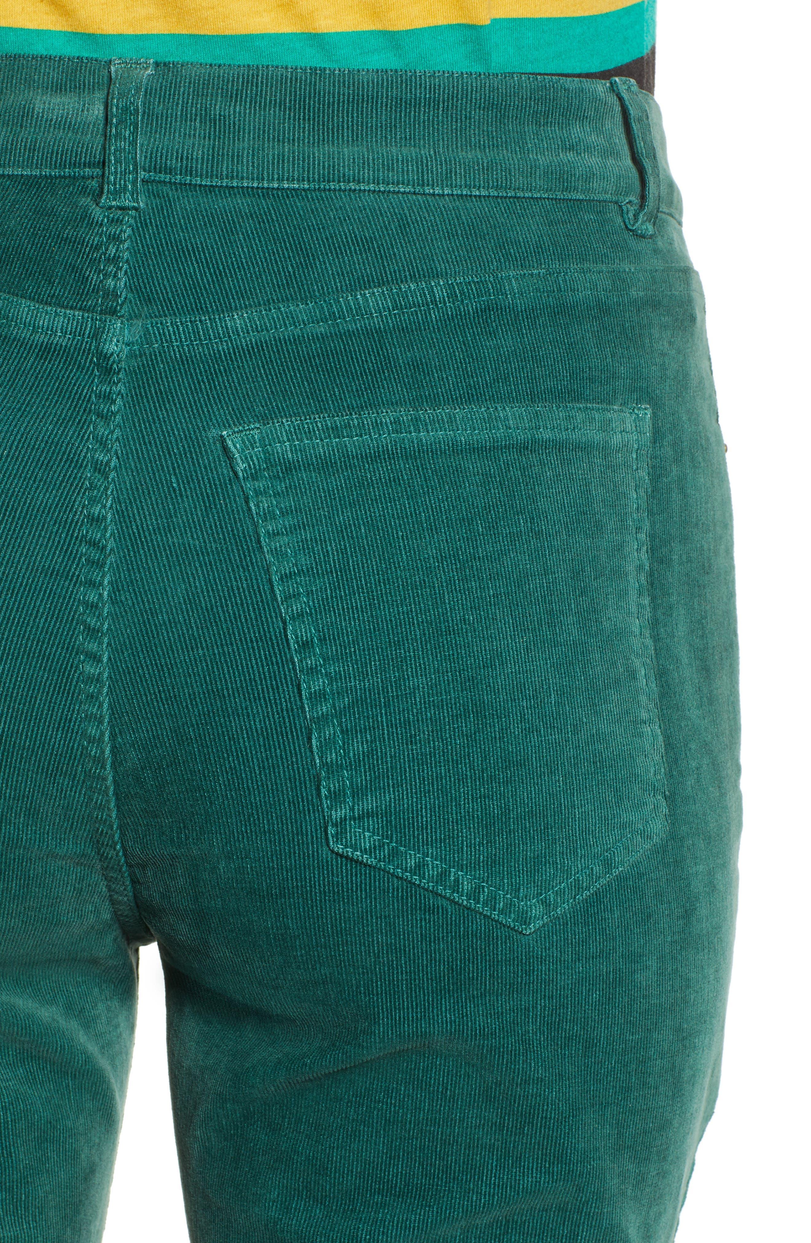 Crop Flare Pants,                             Alternate thumbnail 4, color,                             EMERALD