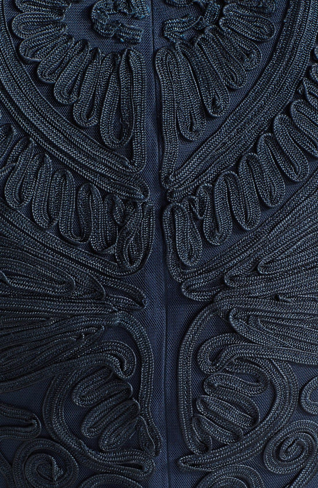 Soutache Dress,                             Alternate thumbnail 4, color,                             NAVY