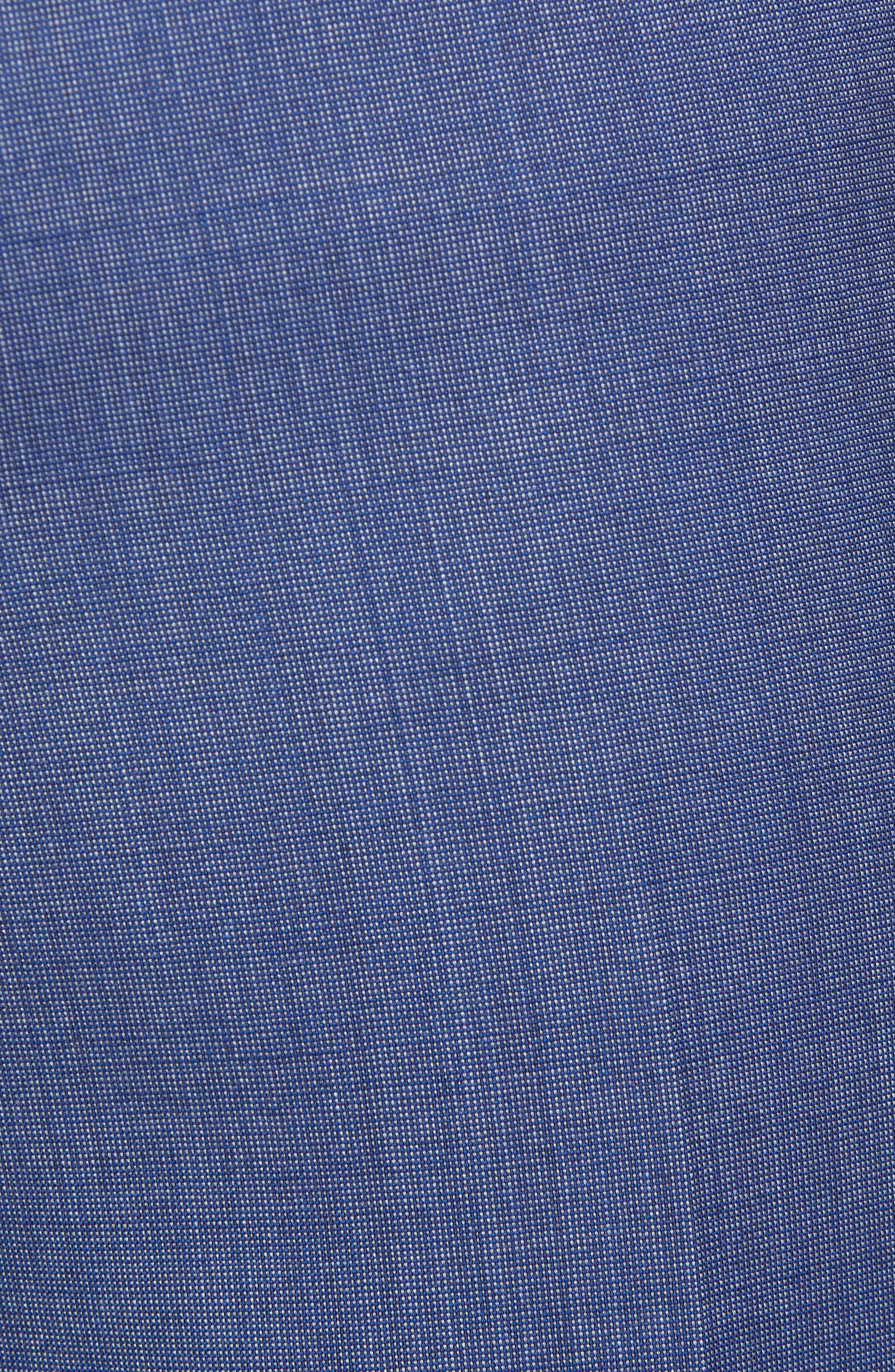 Manufacturing Flat Front Wool Trousers,                             Alternate thumbnail 5, color,                             BLUE