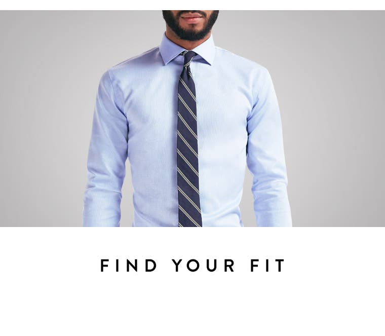 Play video about finding your dress-shirt fit.