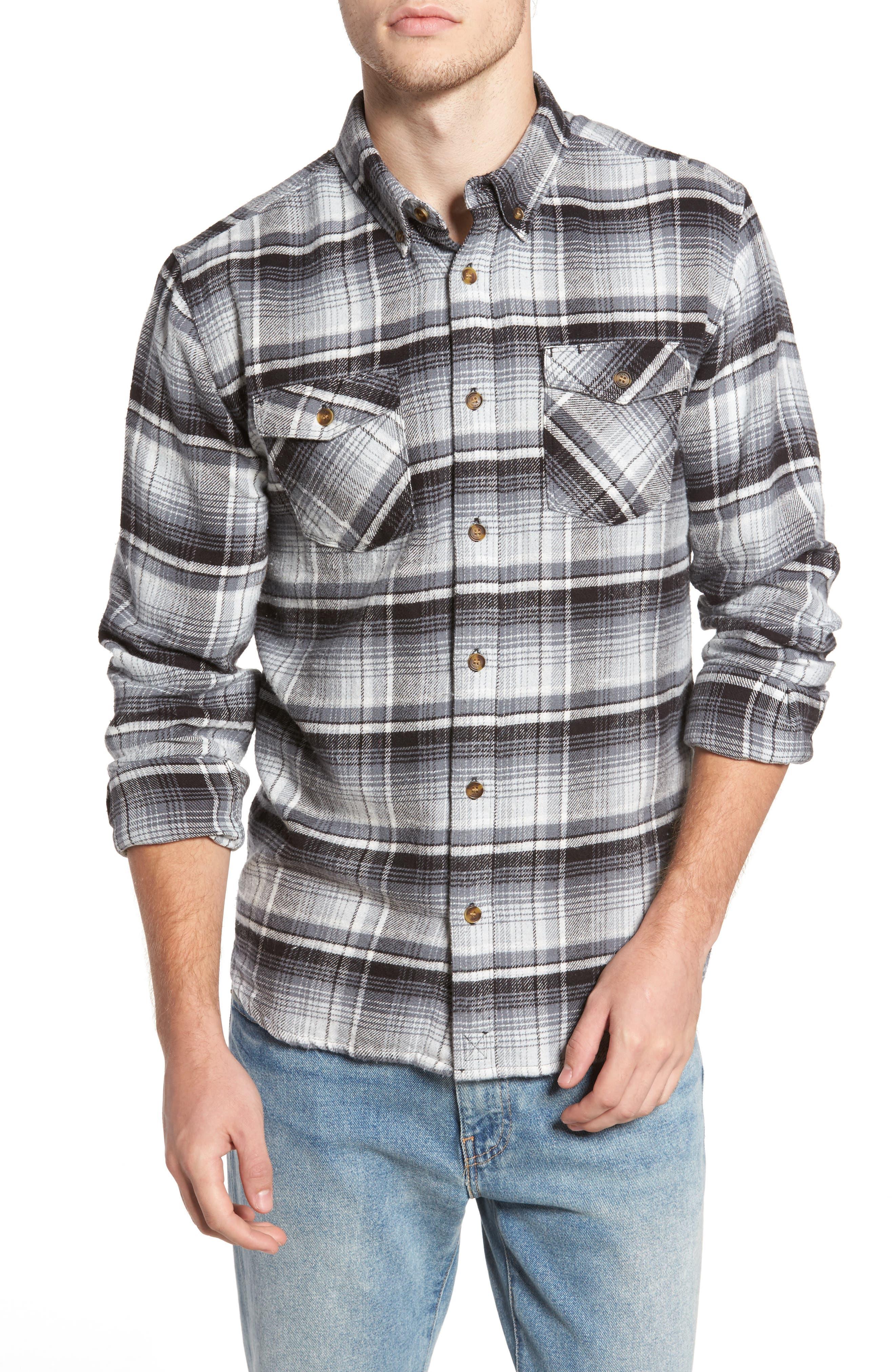 Butler Plaid Flannel Sport Shirt,                             Main thumbnail 1, color,