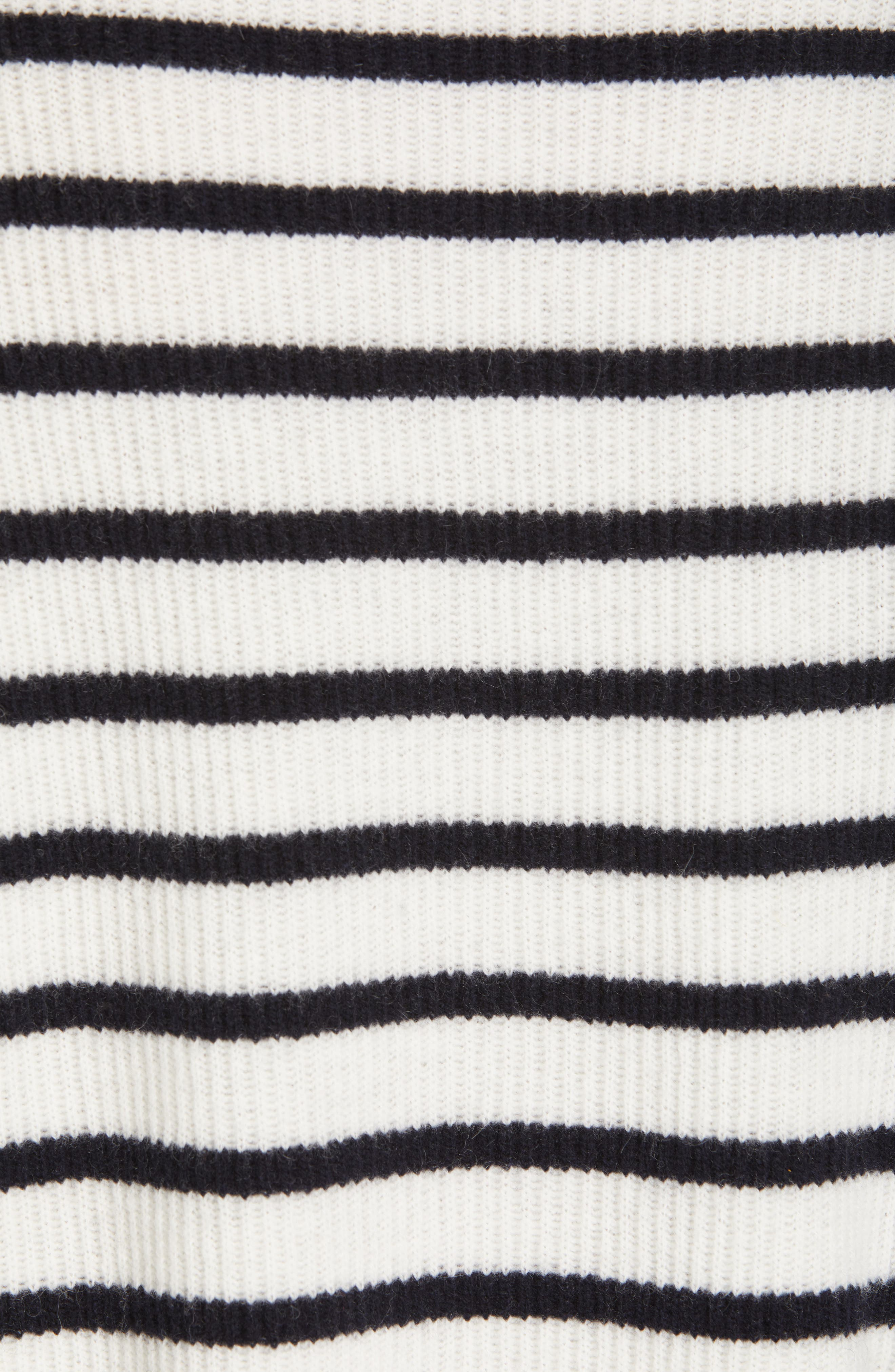 Mixed Stripe Sweater,                             Alternate thumbnail 5, color,                             OFF WHITE/ COASTAL