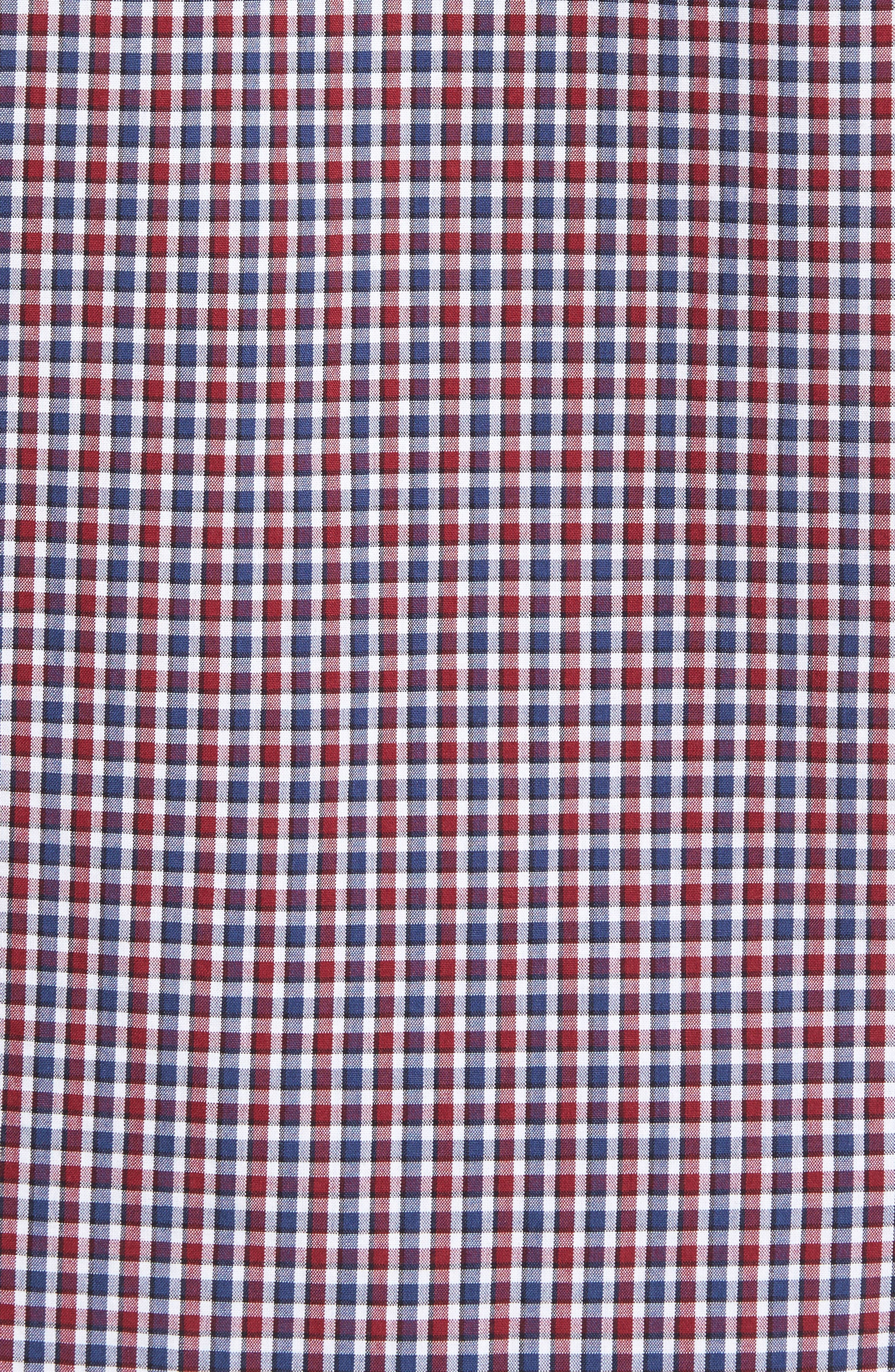 Slim Fit Check Sport Shirt,                             Alternate thumbnail 5, color,