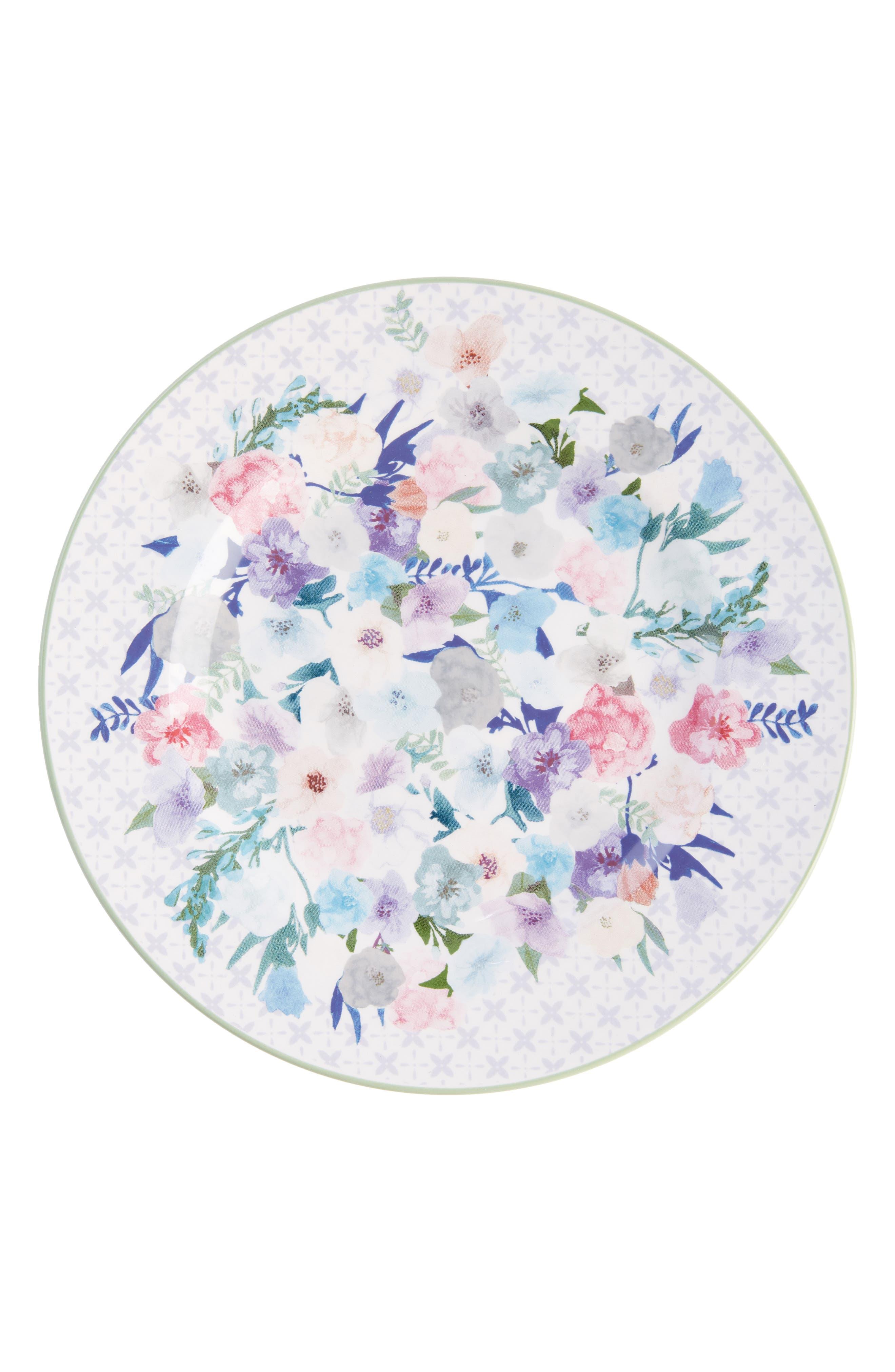 ANTHROPOLOGIE,                             Jioletta Set of 4 Dessert Plates,                             Alternate thumbnail 4, color,                             LIGHT GREEN