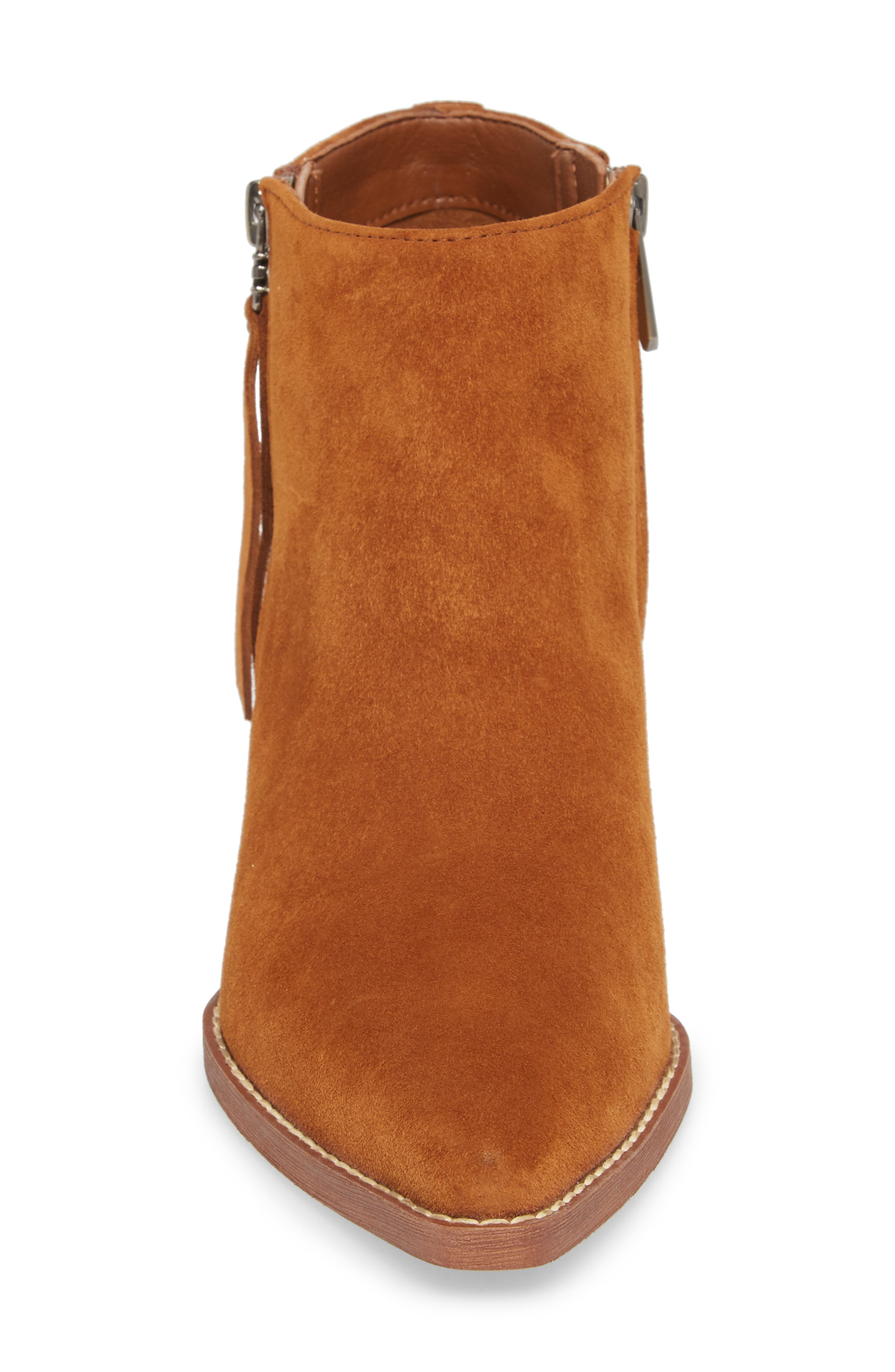 Walden Bootie,                             Alternate thumbnail 4, color,                             LUGGAGE SUEDE